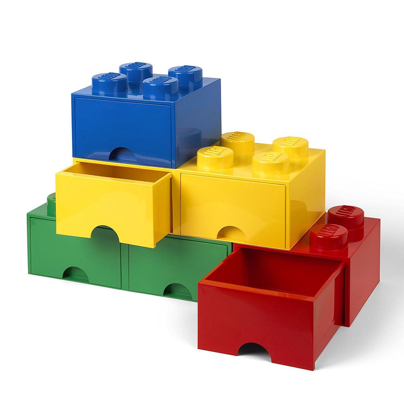 offizielle lego stein aufbewahrung spielzeugkiste 8 mit 2 schubladen gelb kinder ebay. Black Bedroom Furniture Sets. Home Design Ideas