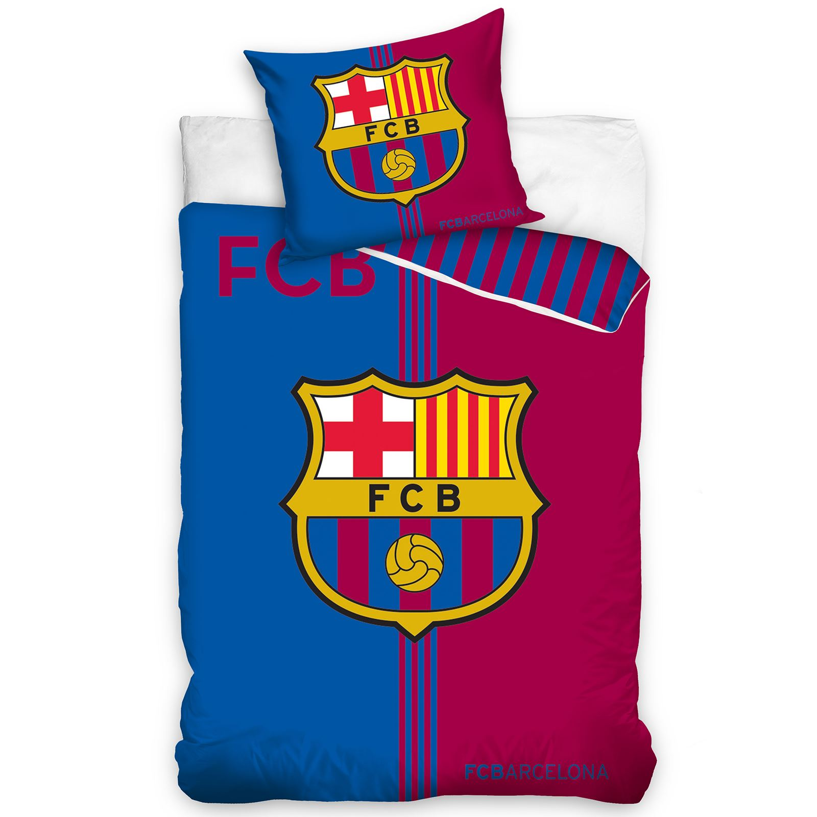 BARCELONA BEDDING AND BEDROOM ACCESSORIES BOYS FOOTBALL NEW   eBay