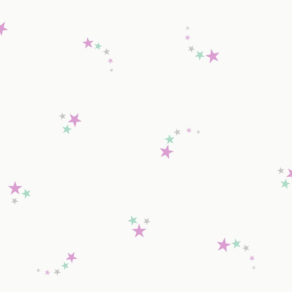 Shooting Stars Wallpaper Pink Holden Decor 12591 Glitter Sparkle
