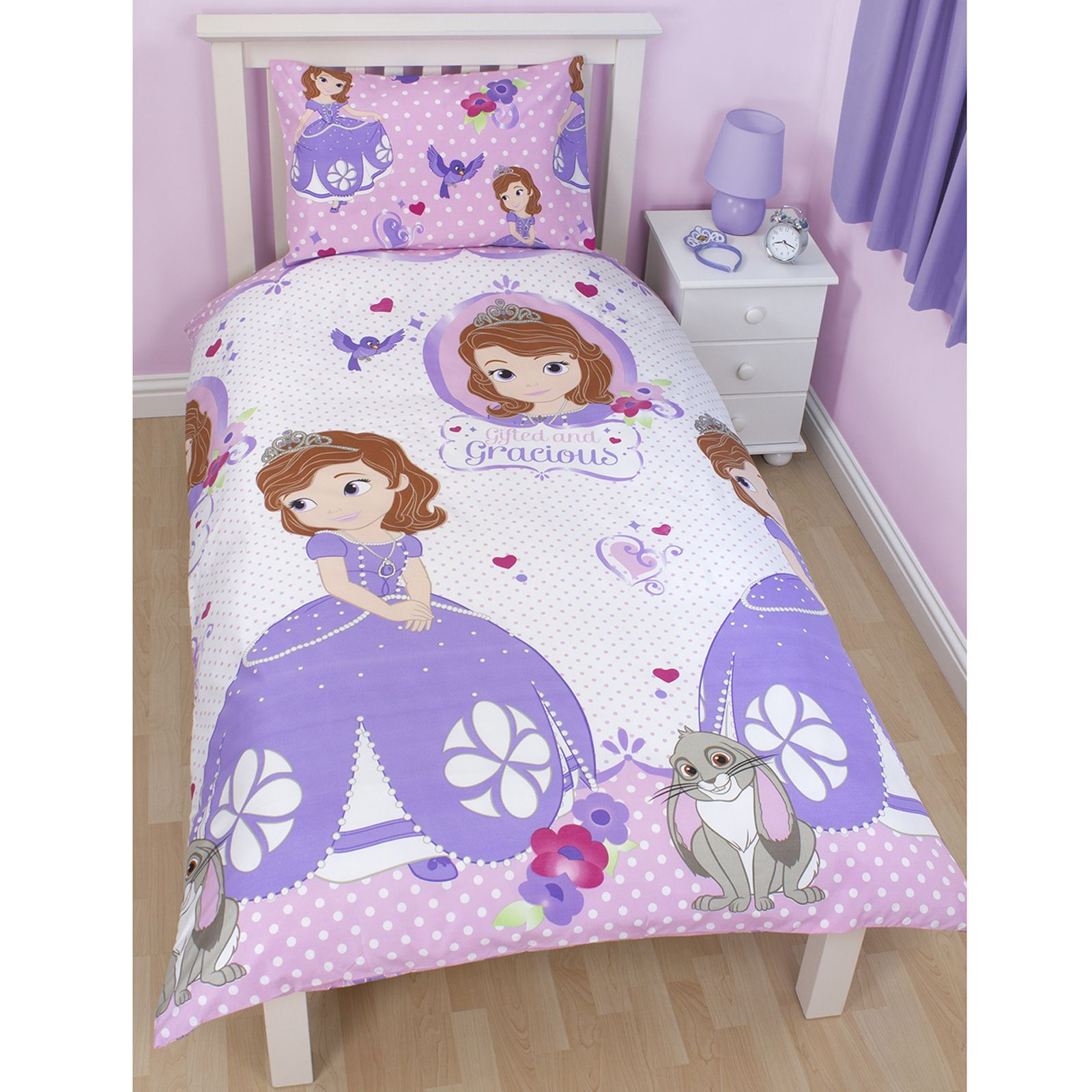 Kids disney character single duvet cover sets paw patrol - Sofia the first bedroom ...