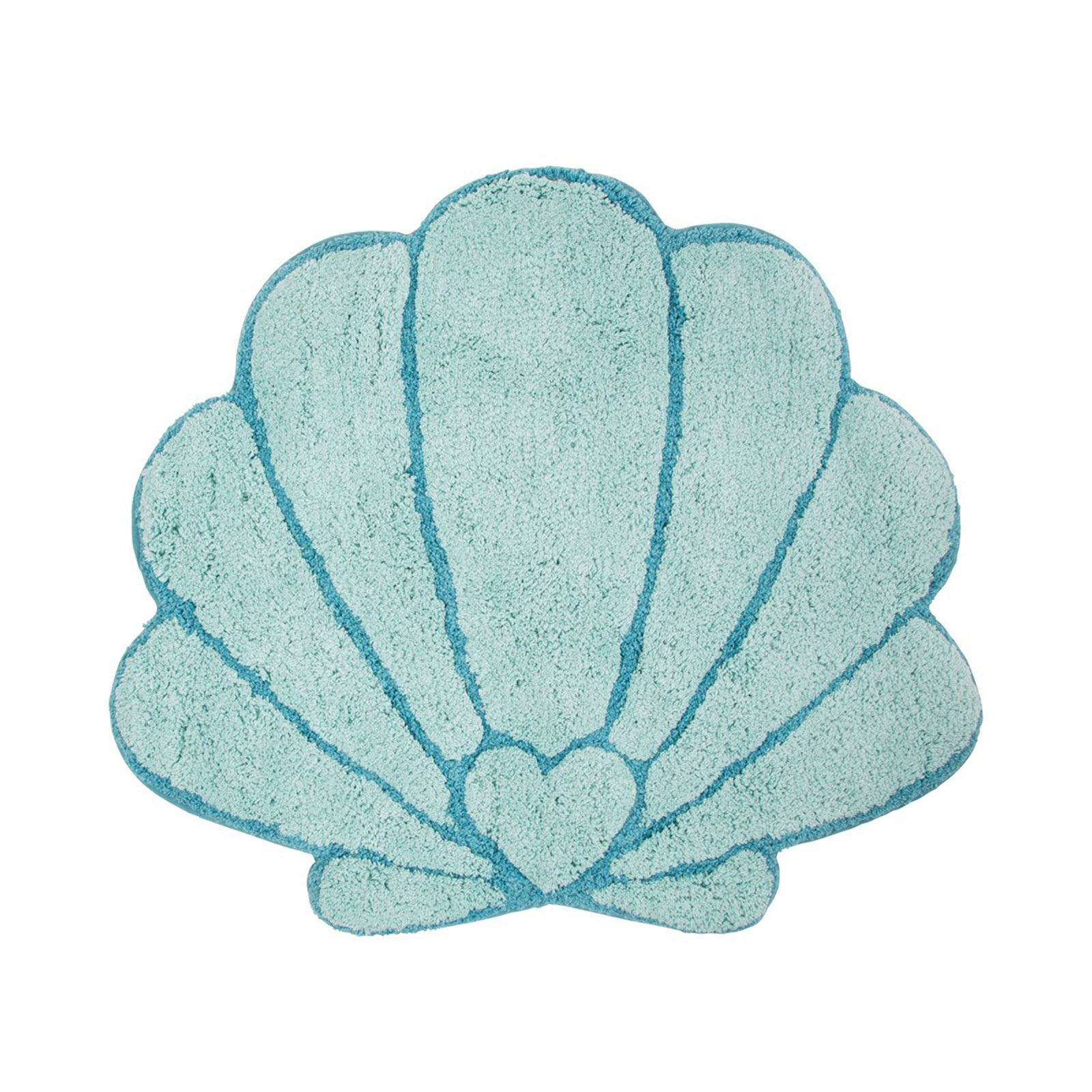 Details About MERMAID TREASURES SHELL FLOOR SHAPED RUG MAT CHILDRENS ROOM  SOFT 100% COTTON