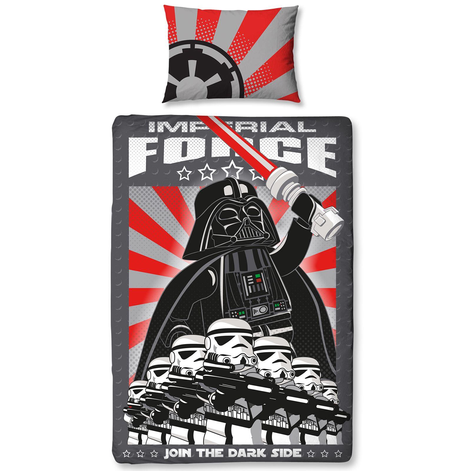 Lego Star Wars Imperial Single Duvet Cover Set Darth Vader