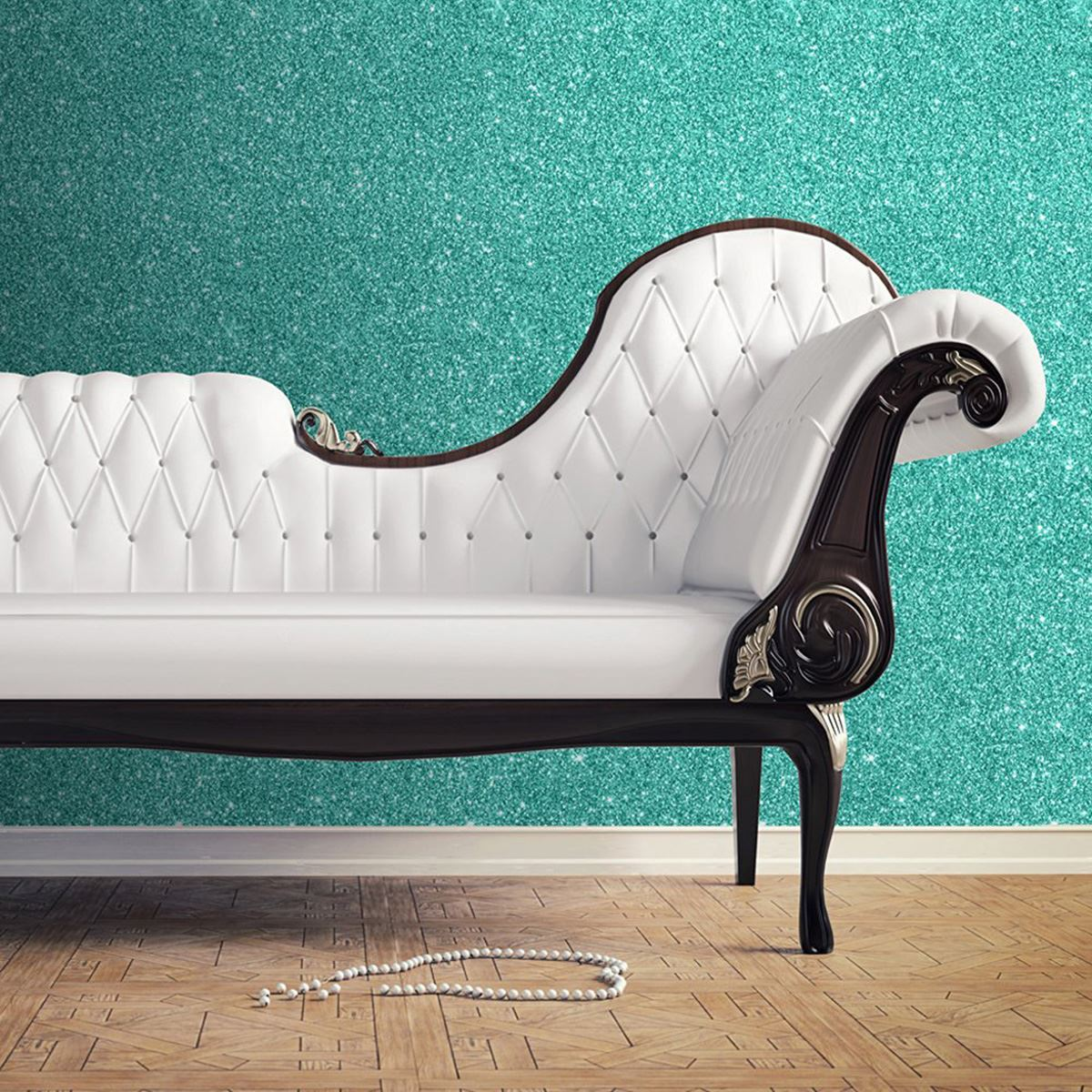 Details about HOT TEAL TEXTURED SPARKLE WALLPAPER - MURIVA 701355 NEW