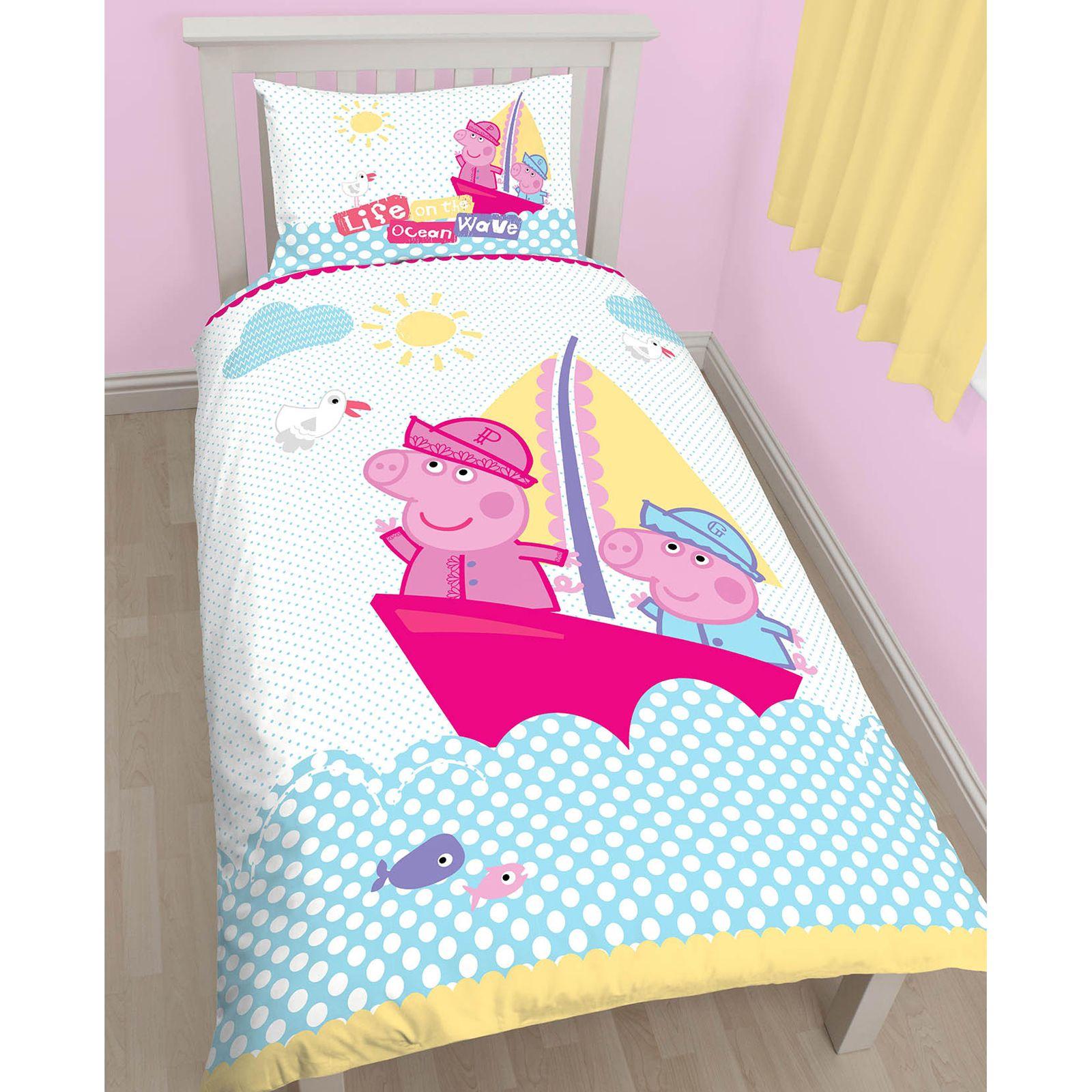 Peppa Pig Nautical Single Duvet Cover Matching 54