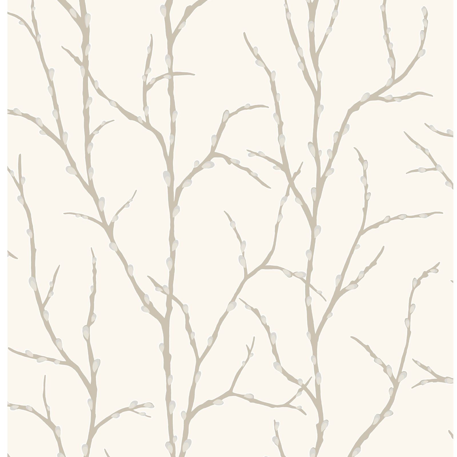 RASCH PUSSY WILLOW TREE WALLPAPER CREAM Amp CHARCOAL