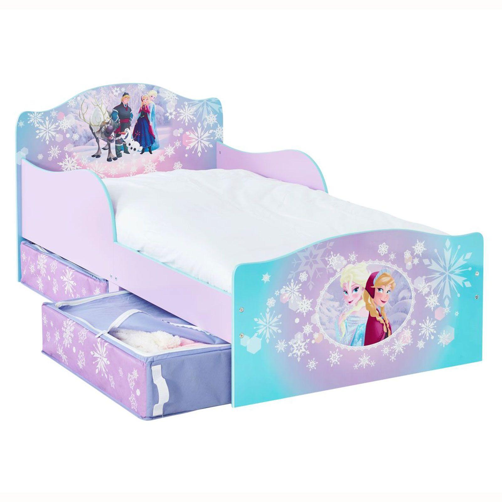 Disney Frozen Mdf Lit Enfant Avec Rangement Matelas Deluxe Neuf Ebay