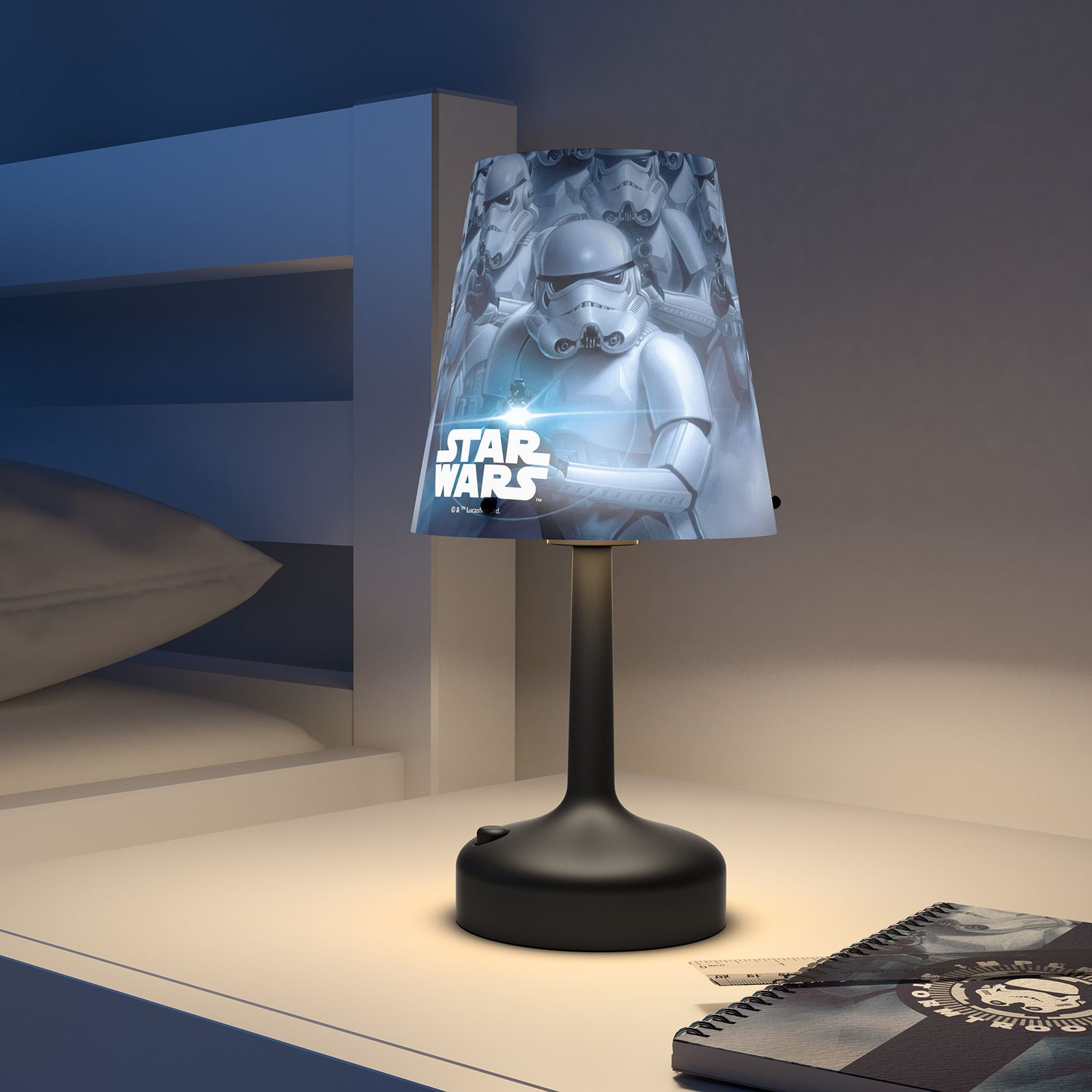 childrens bedroom lighting. STAR WARS STORMTROOPER PORTABLE TABLE LAMP - CHILDRENS BEDROOM LIGHTING  FREE P+P Childrens Bedroom Lighting 0