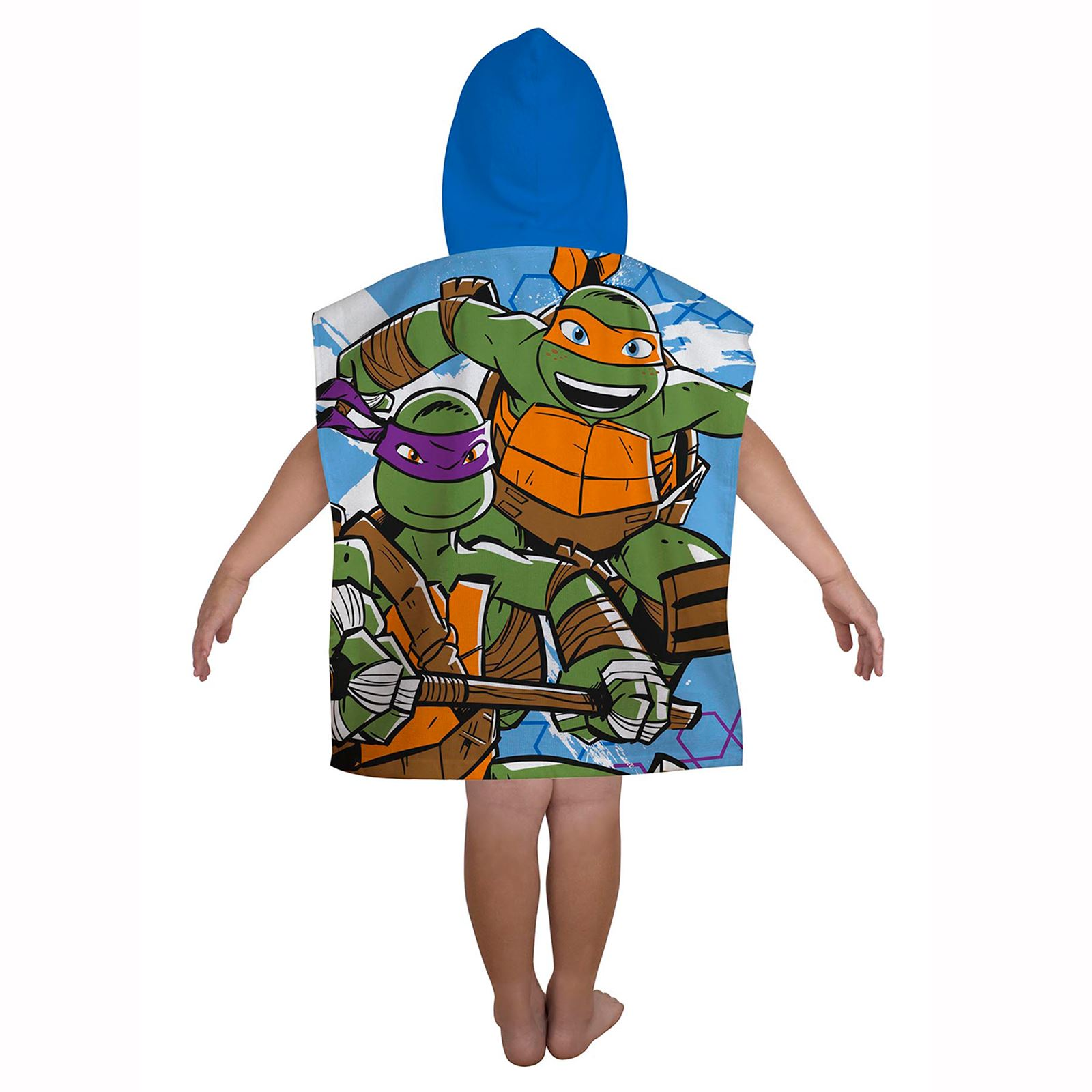 neu teenage mutant ninja turtles abmessung poncho handtuch offizieller kinder ebay. Black Bedroom Furniture Sets. Home Design Ideas