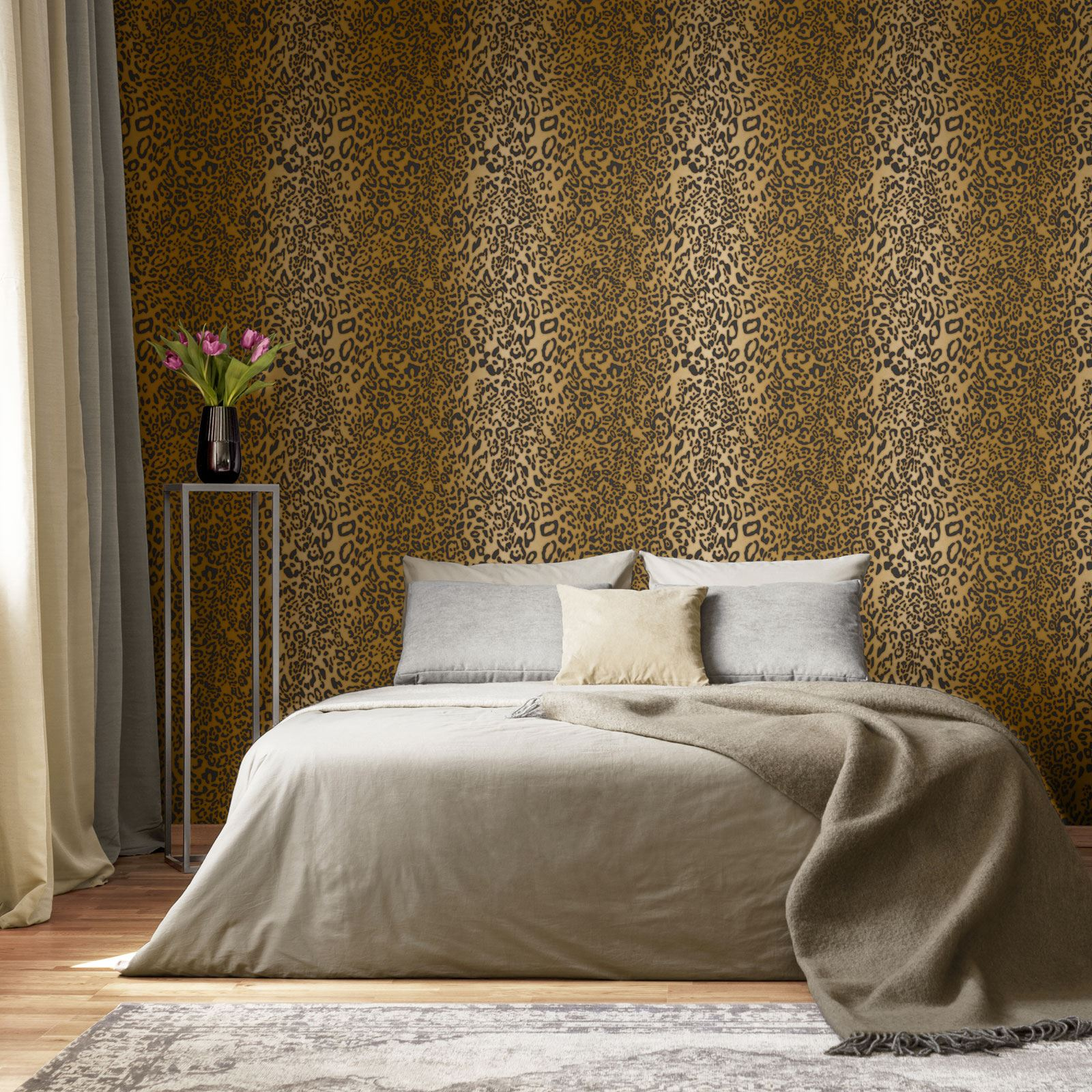 Animal Print Wallpaper Wall Decor Tiger Leopard Zebra Snake Skin Glitter Ebay