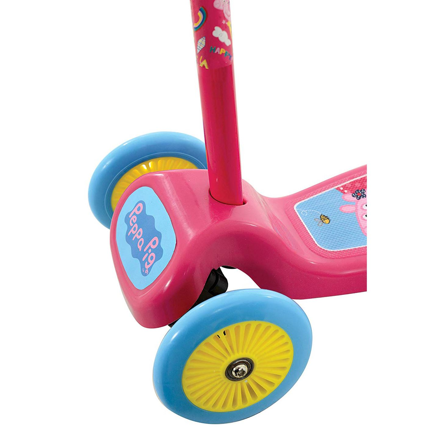 Peppa pig tilt n turn scooter with 3 wide wheels kids girls