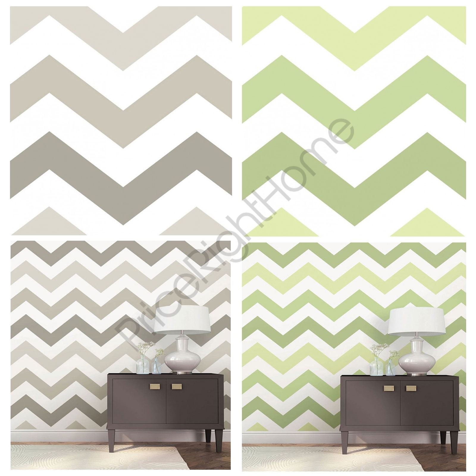 Zig zag peel stick bedroom wallpapers wall decor taupe for Zig zag bedroom ideas