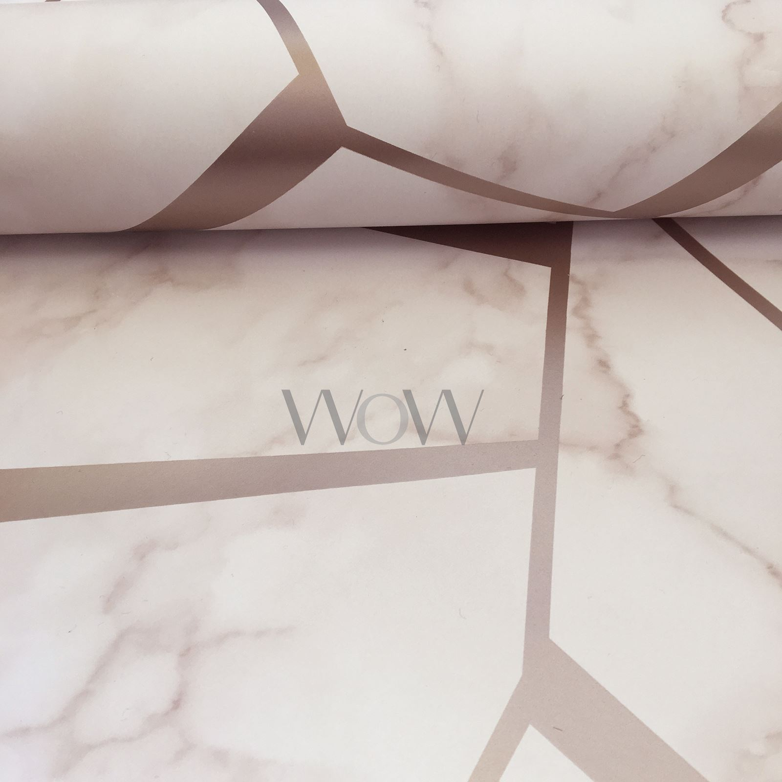 FINE-DECOR-METALLIC-GEOMETRIC-PLAIN-MARBLE-WALLPAPER-ROSE-GOLD-COPPER-SILVER thumbnail 10