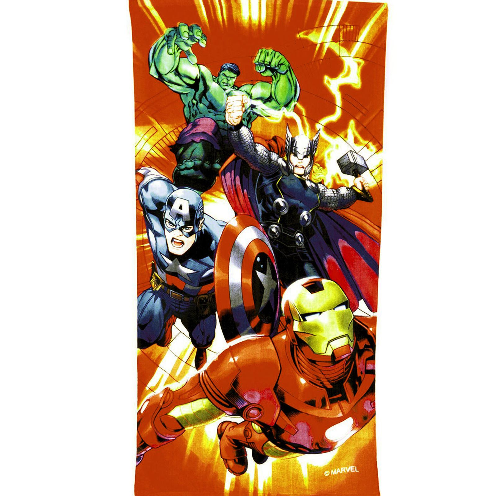 MARVEL DESIGN 100% COTTON BEACH / BATH TOWELS SUPERHEROES ...