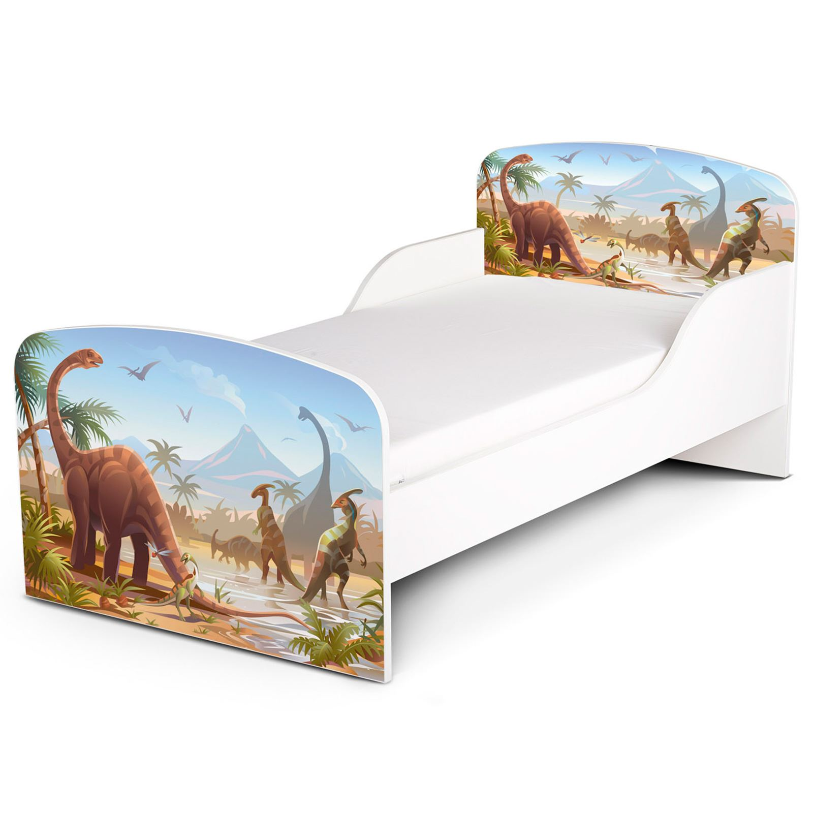 PRECIO Right Home Jurásico Dinosaurios Niño Gateador Cama con protector