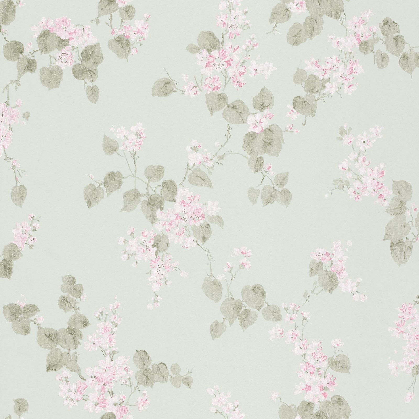 RASCH EMILIA BLOSSOM FLORAL WALLPAPER PALE GOLD MINT SHABBY CHIC WALL DECOR NEW