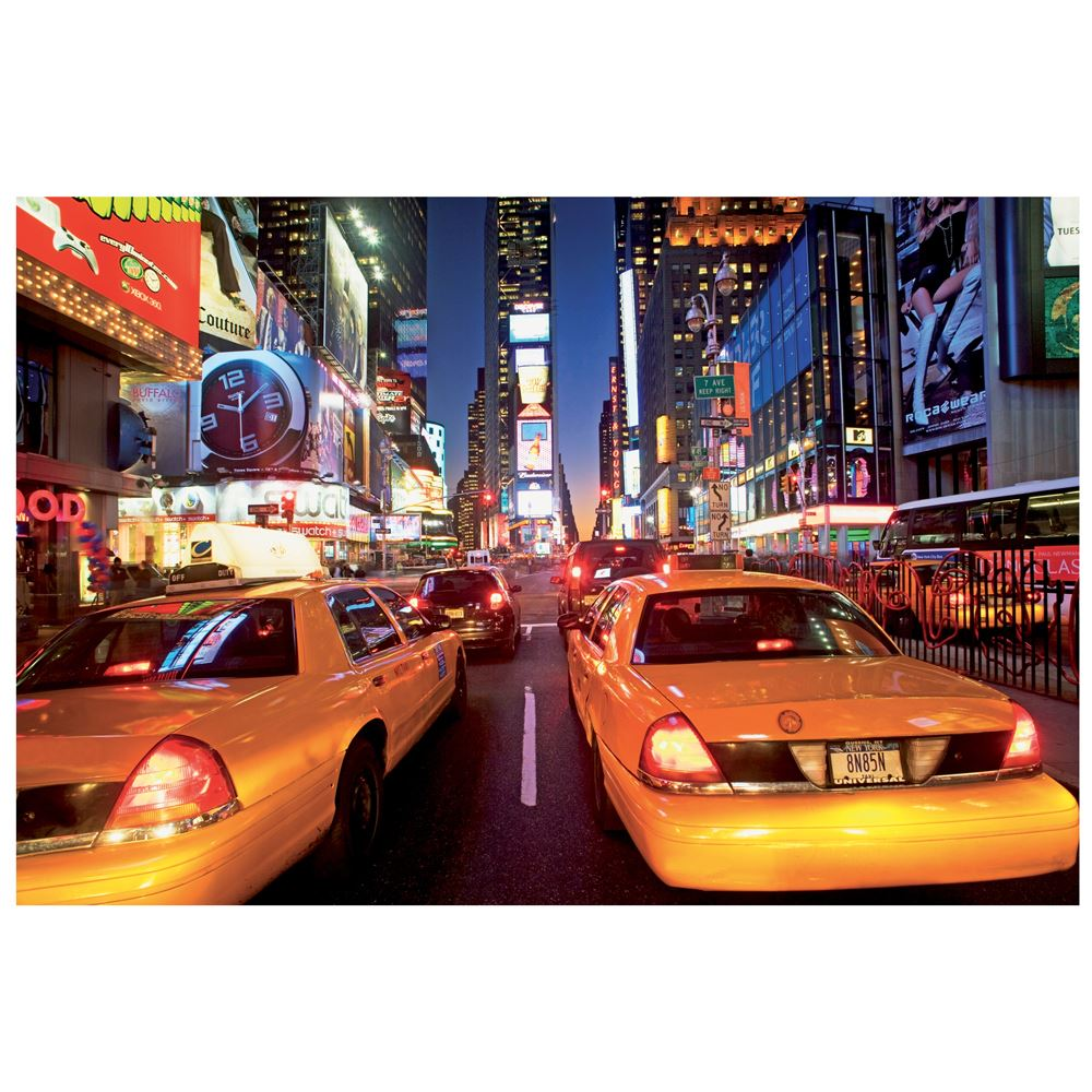 NEW YORK TIMES SQUARE TAXI WALL MURAL 232CM X 315CM