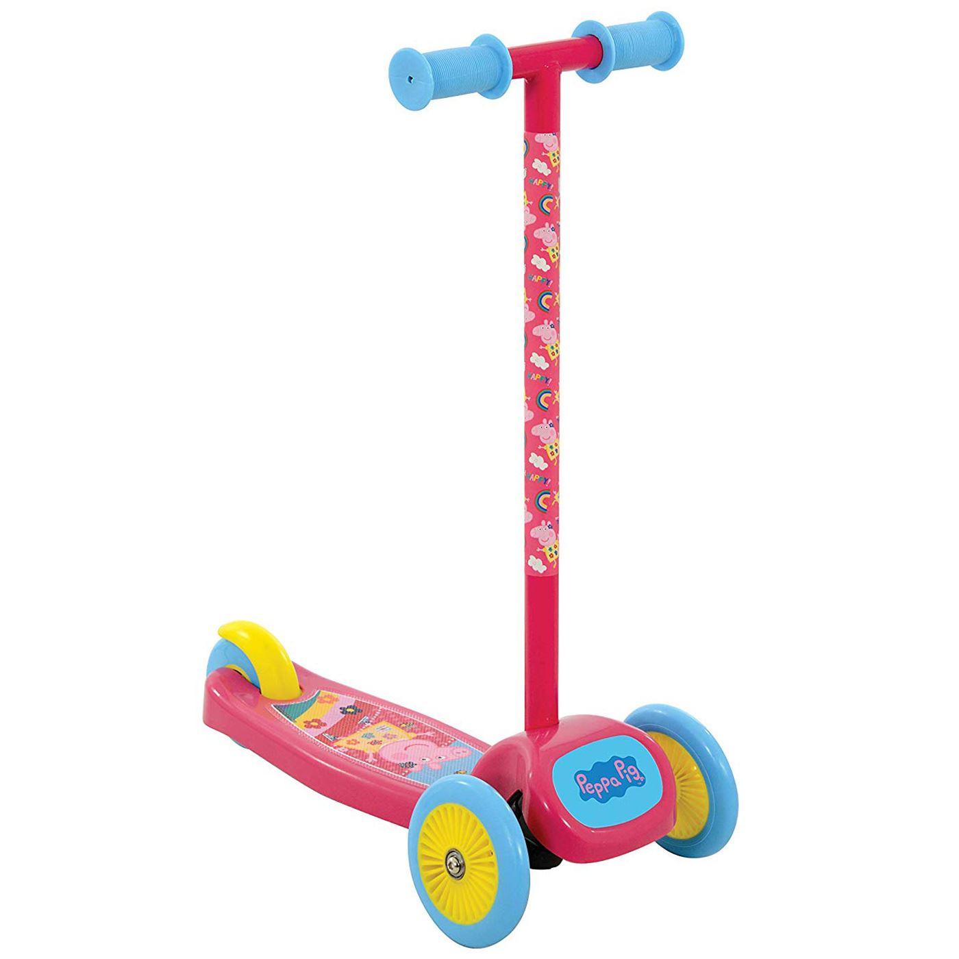Peppa pig tilt n turn scooter with 3 wide wheels kids girls