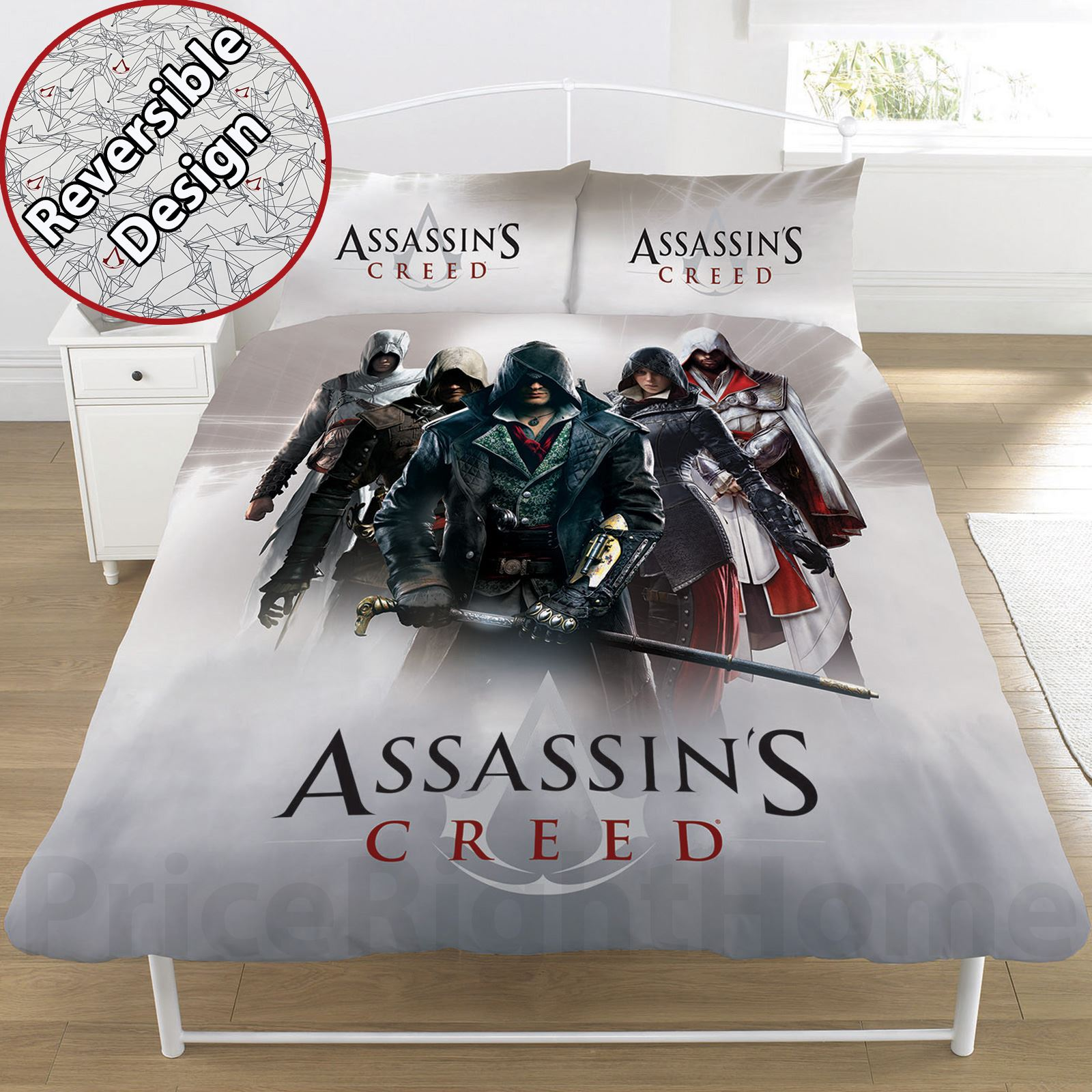 ASSASSINS CREED DUVET COVER SETS VARIOUS DESIGNS BOYS ...