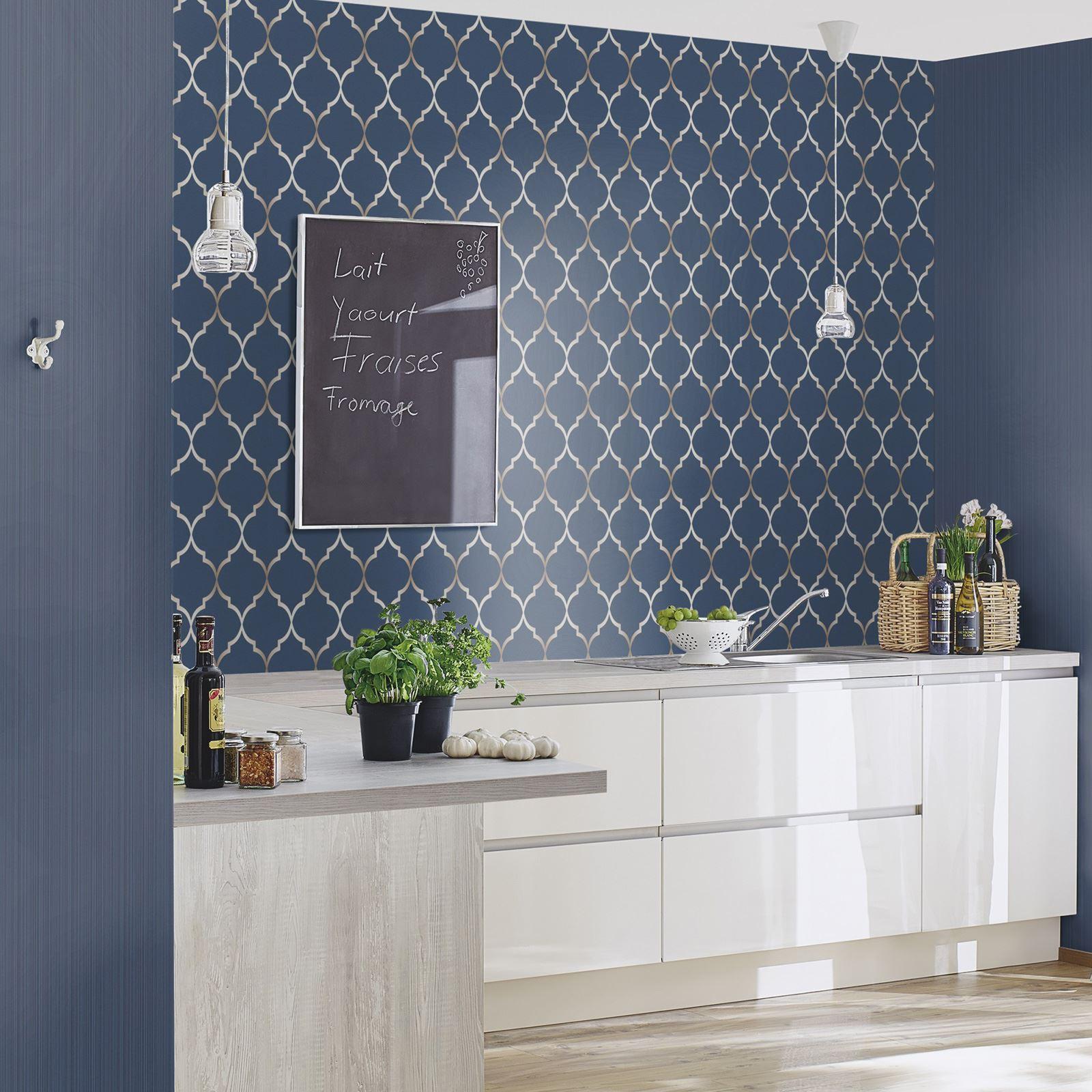 Trellis Wallpaper Metallic: TEAL, ROSE GOLD, SILVER, COPPER, PINK