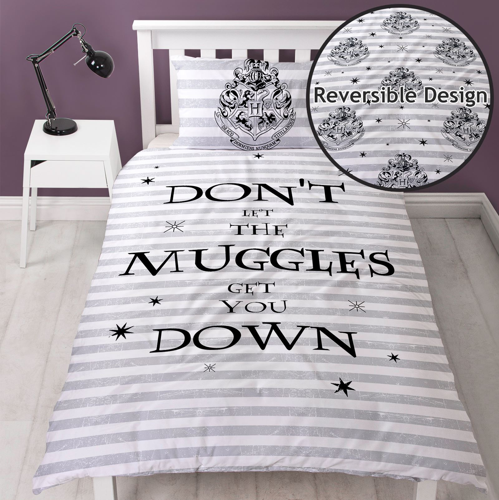 Harry Potter Spruch Einzelbettbezug Set Bettwäsche Jungen Mädchen
