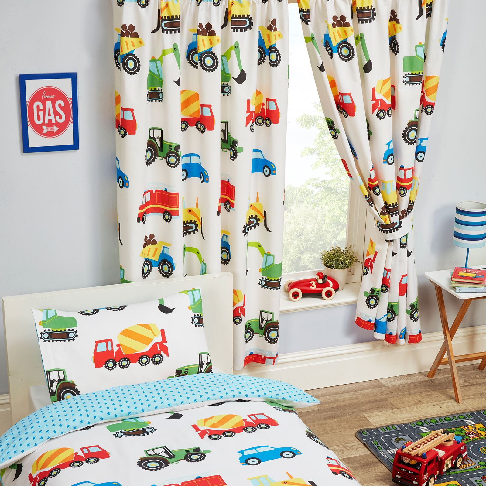 Picture of: Trucks Transport Lined Curtains 54 Drop Kids Boys Bedroom Vehicles 5027491337755 Ebay