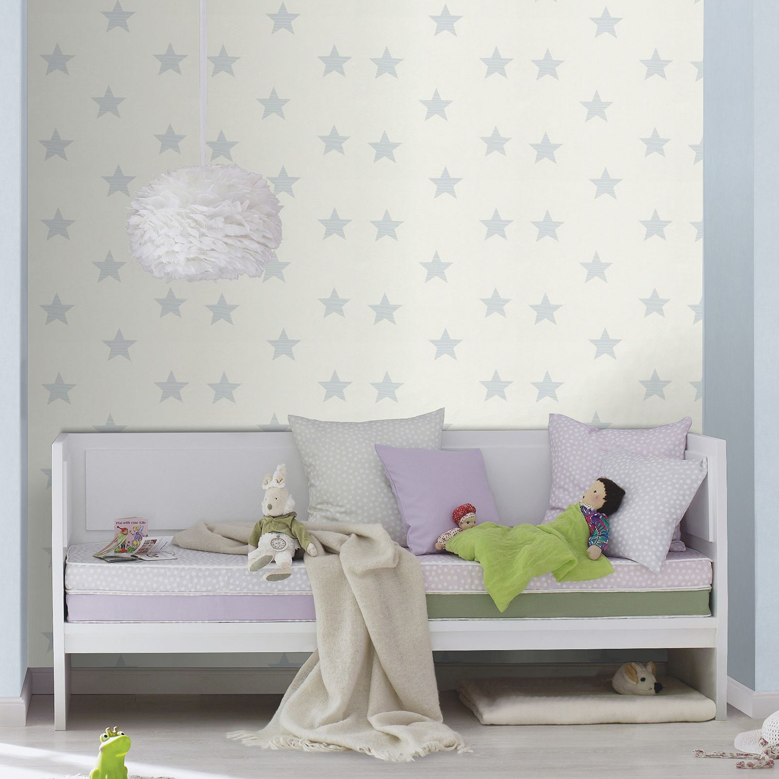 Girls wallpaper themed bedroom unicorn stars heart glitter for Themed bedroom wallpaper