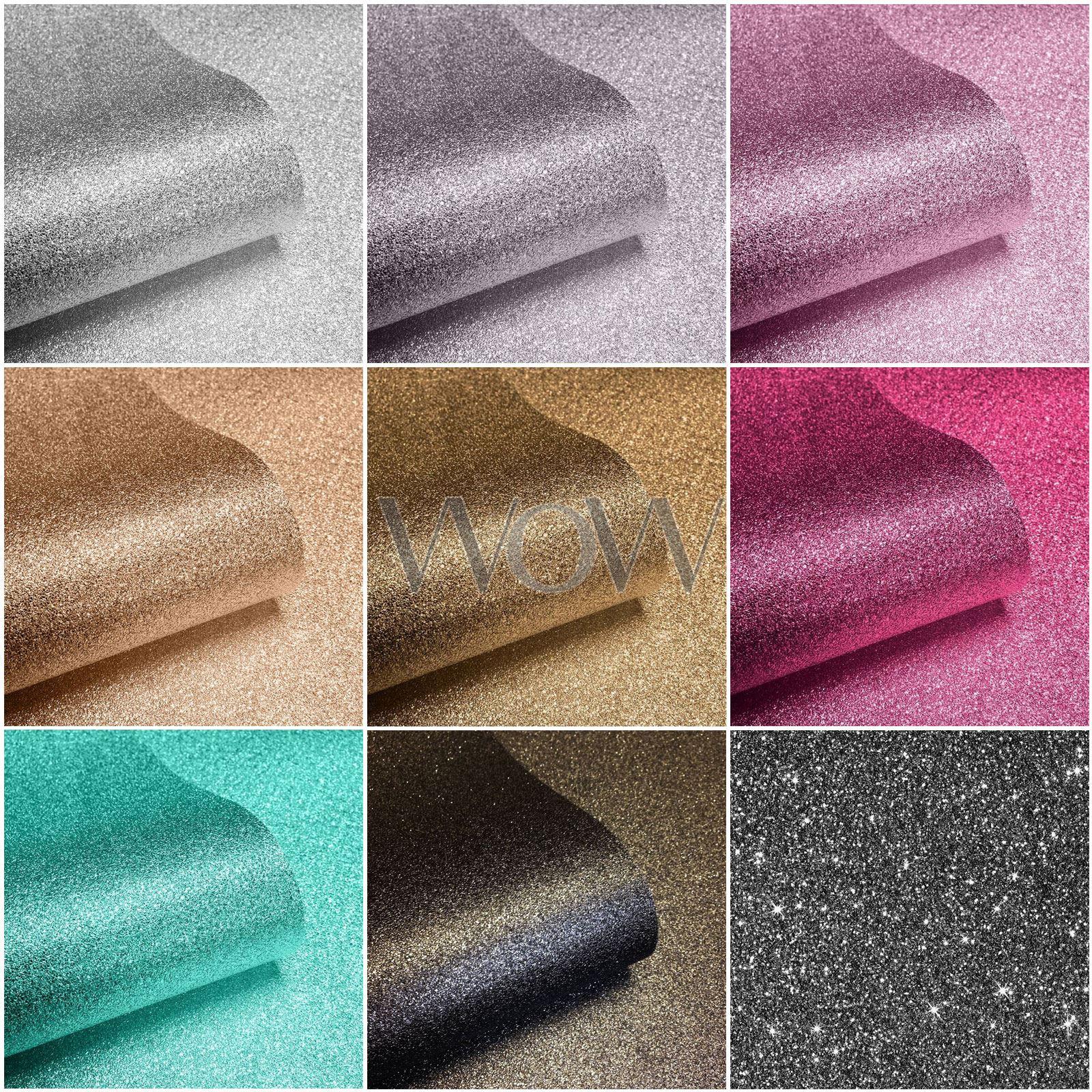 Sparkle Glitter Wallpaper Muriva Feature Wall Pink Gold