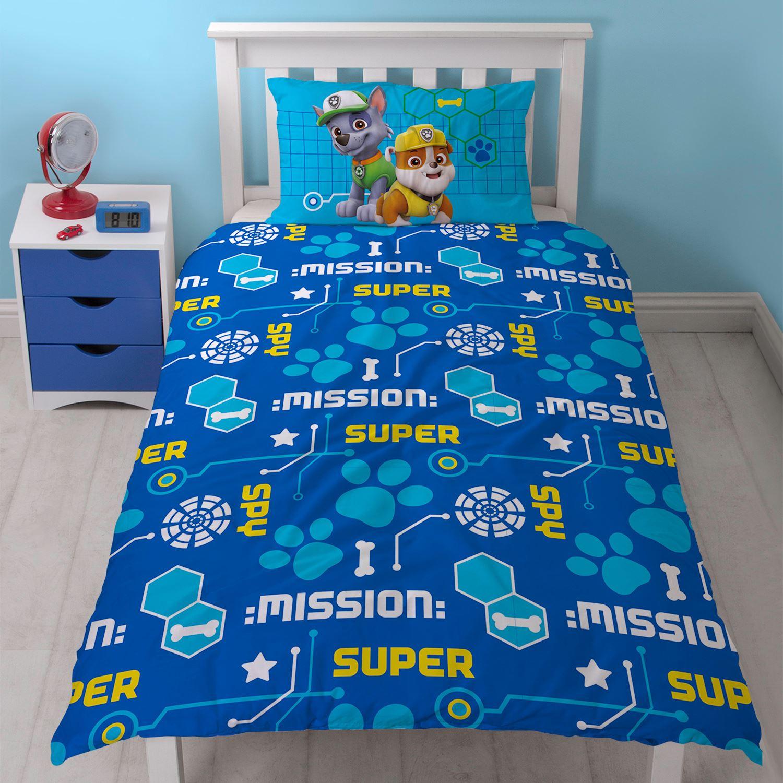 paw patrol spion einzelbettbezug set kinder jungen bettw sche chase marshall 39 s ebay. Black Bedroom Furniture Sets. Home Design Ideas