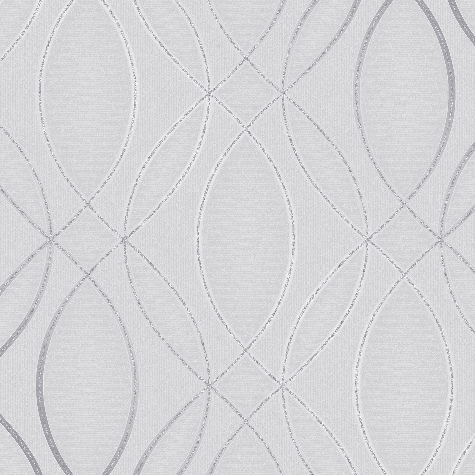 Papier Peint Capitonné Gris détails sur impulsion ogee vague papier peint argent / gris - fine decor  fd42337 paillette