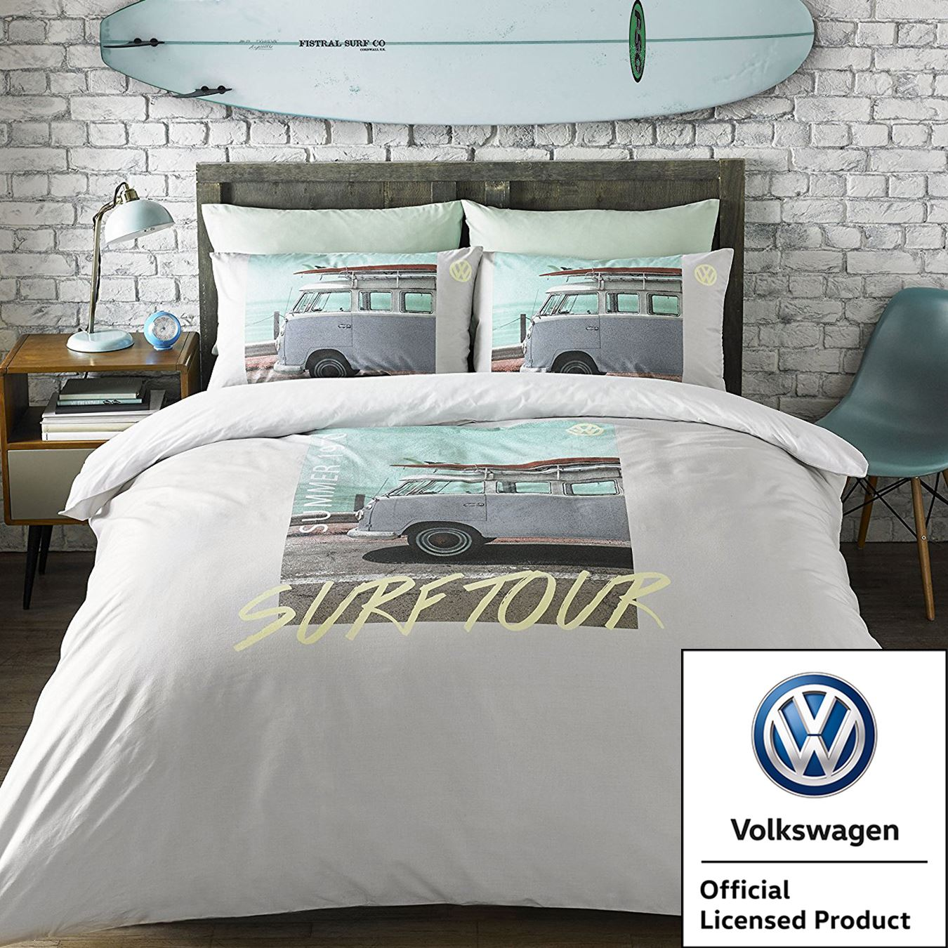 VW VOLKSWAGEN CAMPERVAN DUVET COVER SETS RETRO CAR BEDDING