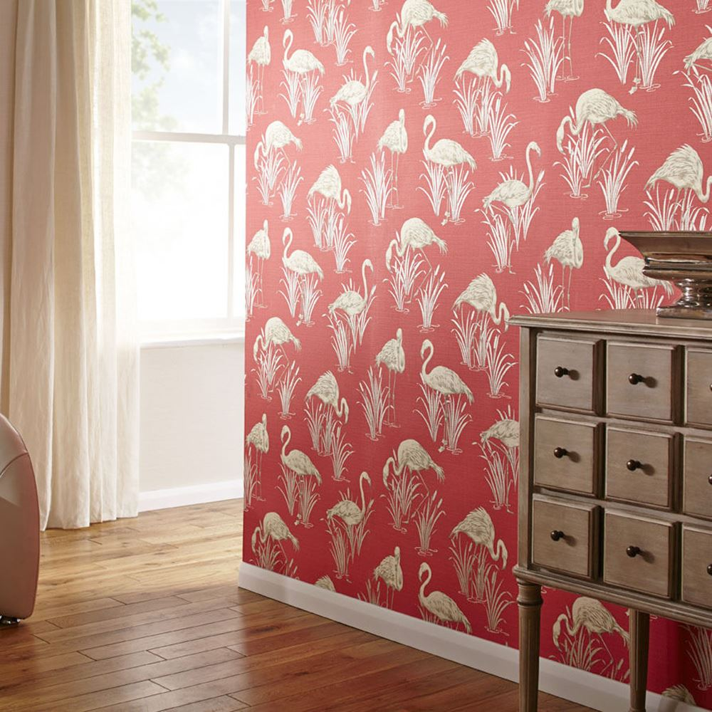 flamingo wallpaper arthouse vintage lagoon holden lake rasch barbara becker ebay. Black Bedroom Furniture Sets. Home Design Ideas