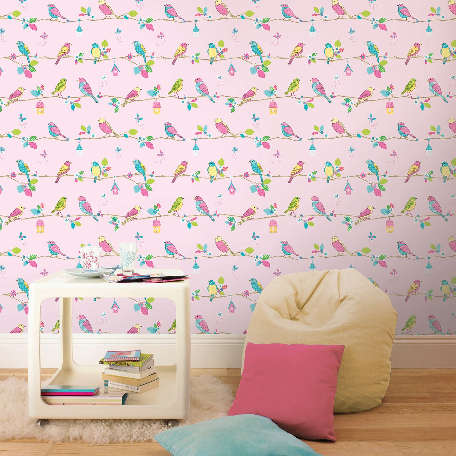 Beautiful exotic and tropical birds themed wallpapers for Beautiful bedroom wall decor