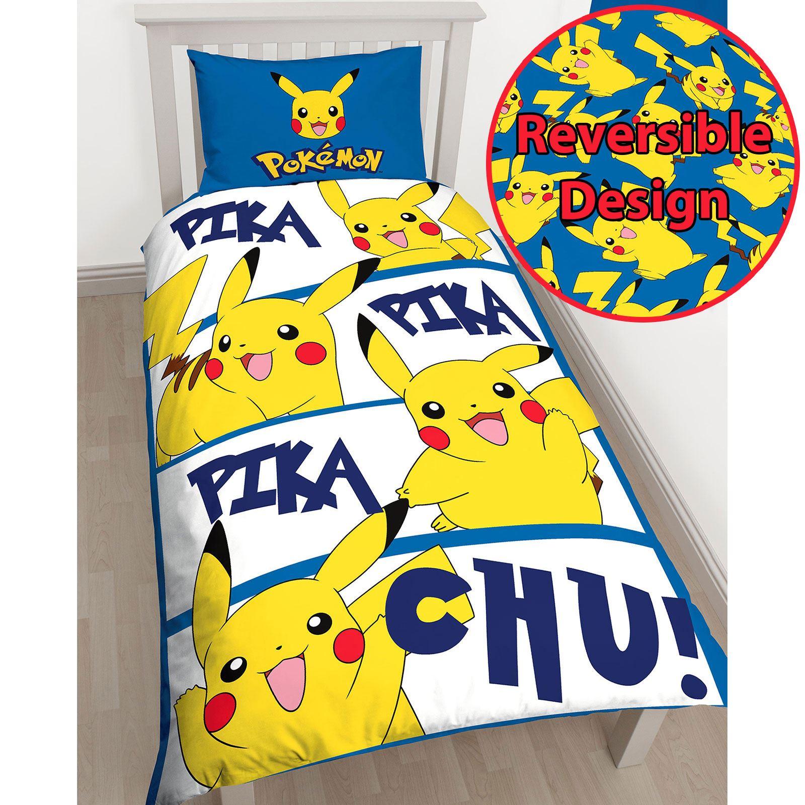 Pokemon Duvet Cover Sets Kids Bedding Reversible Single Double  # Muebles Pokemon
