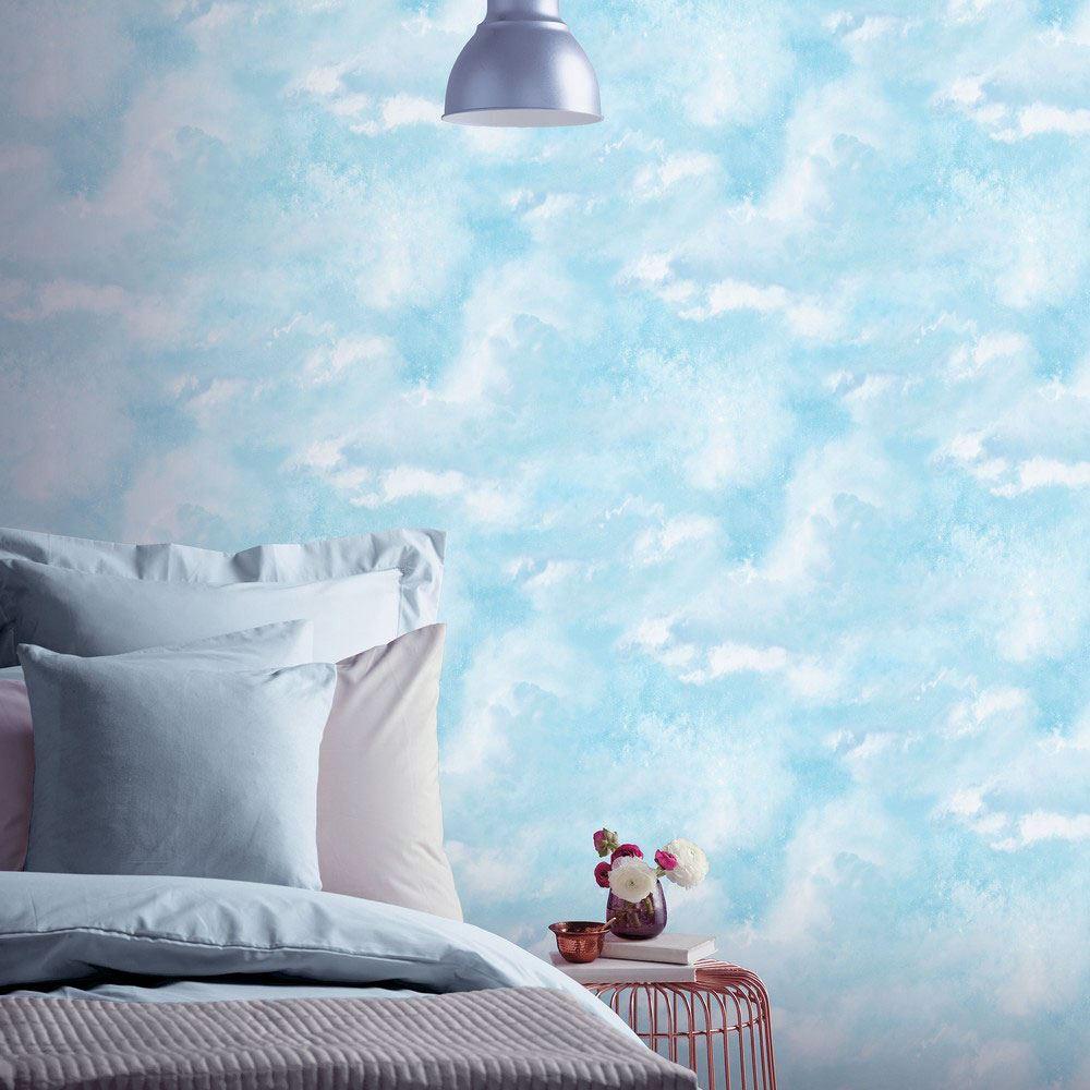 ARTHOUSE-GLITTER-DETAIL-KIDS-WALLPAPER-BEDROOM-UNICORN-MERMAID-SPACE thumbnail 13