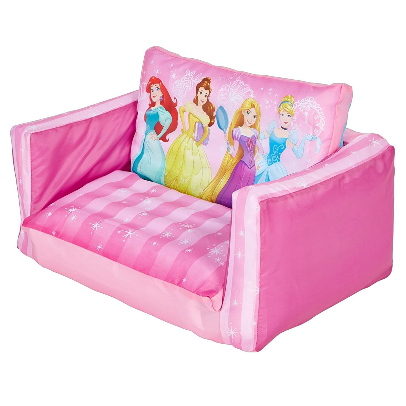 Swell Details About Disney Princess Flip Out Sofa Kids Inflatable Belle Cinderella Rapunzel Pink New Onthecornerstone Fun Painted Chair Ideas Images Onthecornerstoneorg