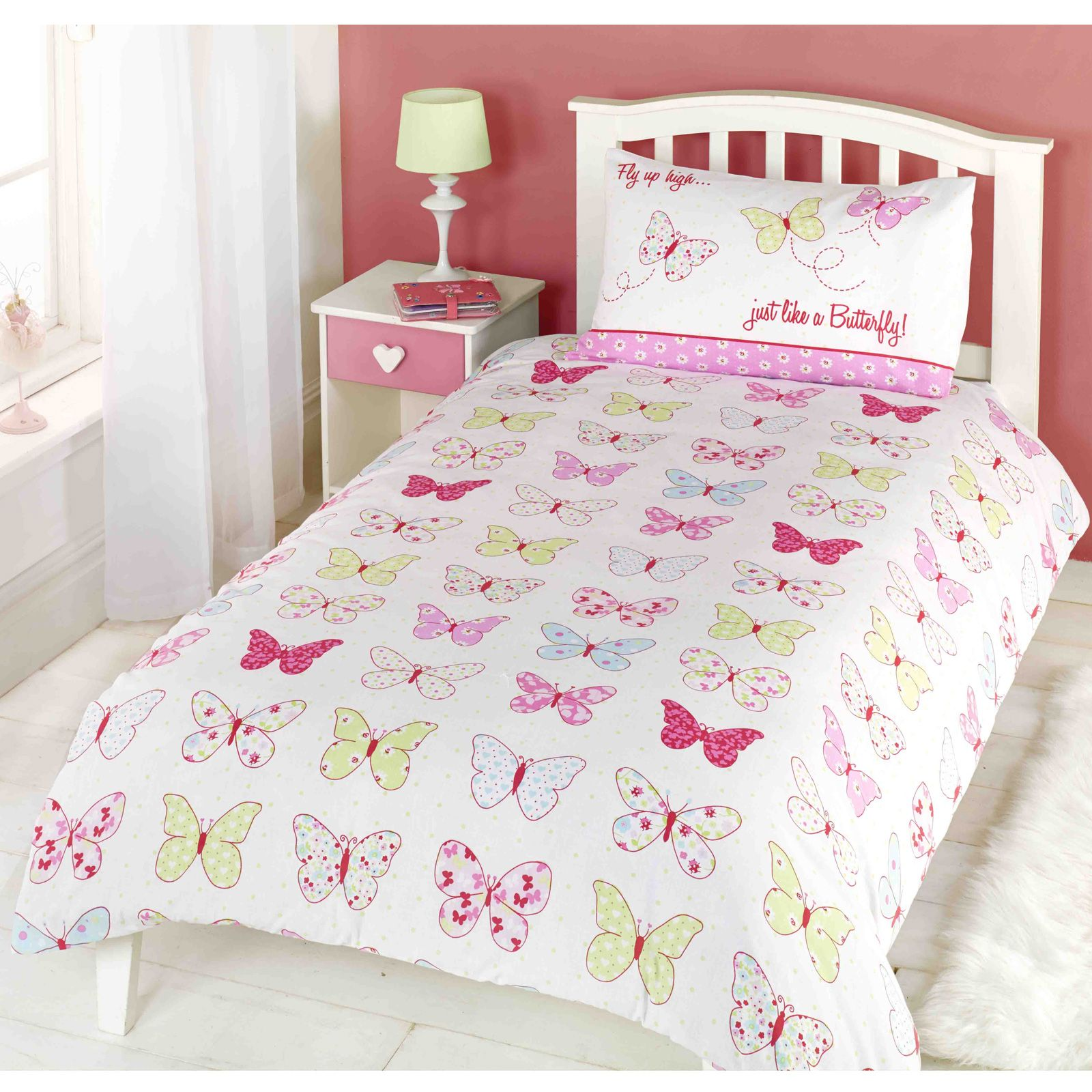 Girls Single Duvet Cover Sets Bedding Unicorn Flower Horse