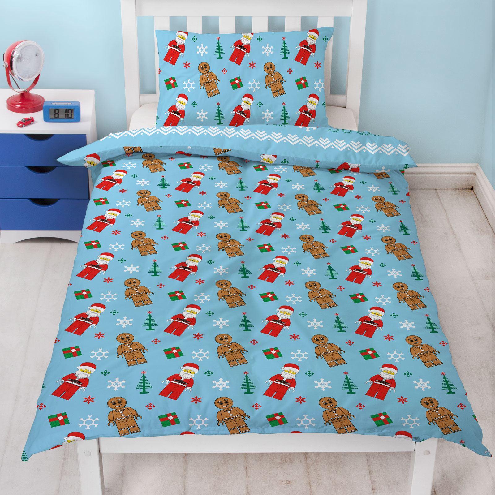 Indexbild 43 - Kinder Weihnachten Bettbezug Sets - Junior Einzel Doppel King - Elf Emoji Grinch