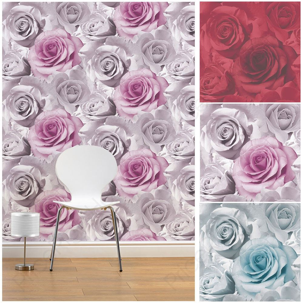 Muriva Madison Rose Wallpaper Feature Designer Wallpaper Pink