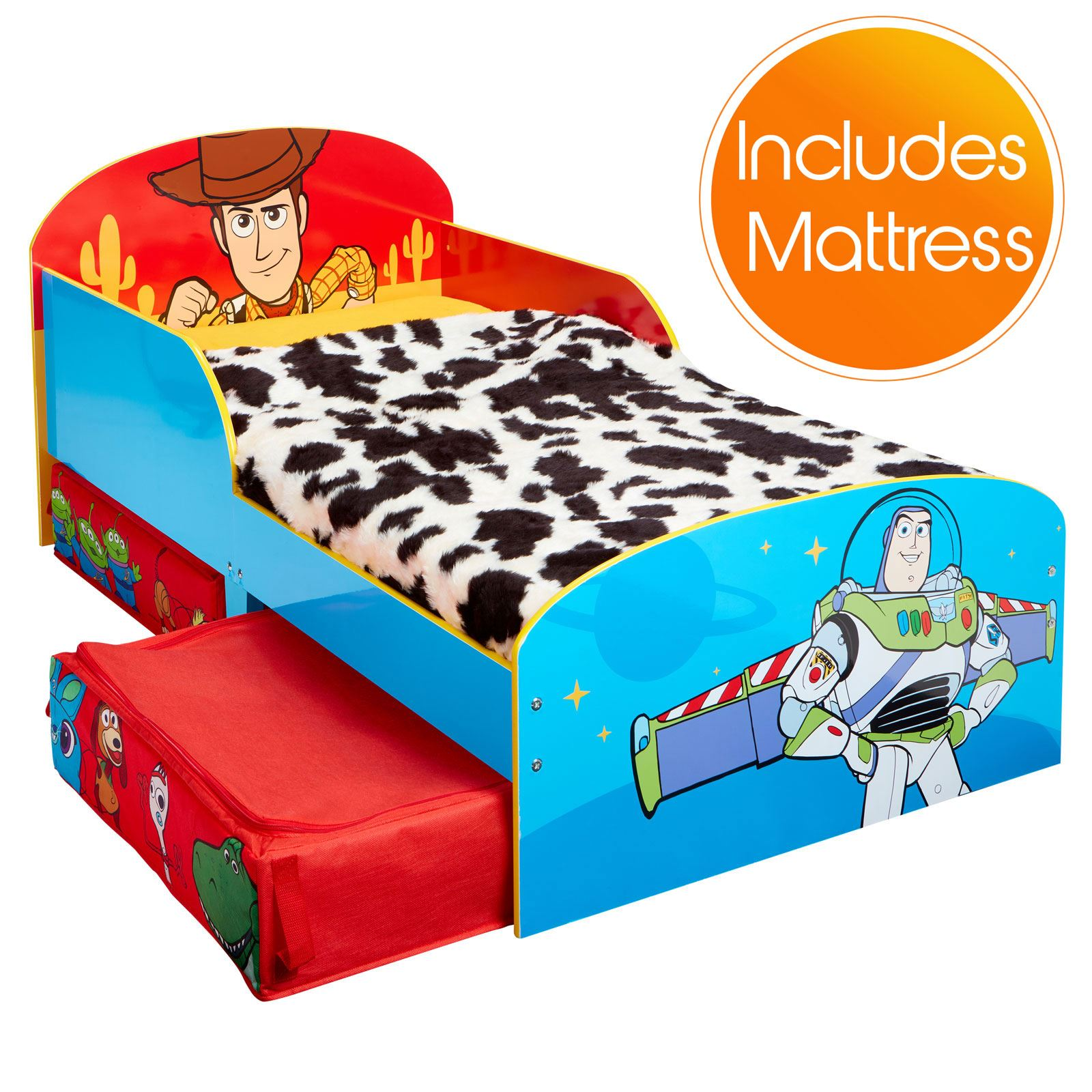 Matelas en mousse Toy story 4 enfant lit avec rangement enfants GLOW IN THE DARK