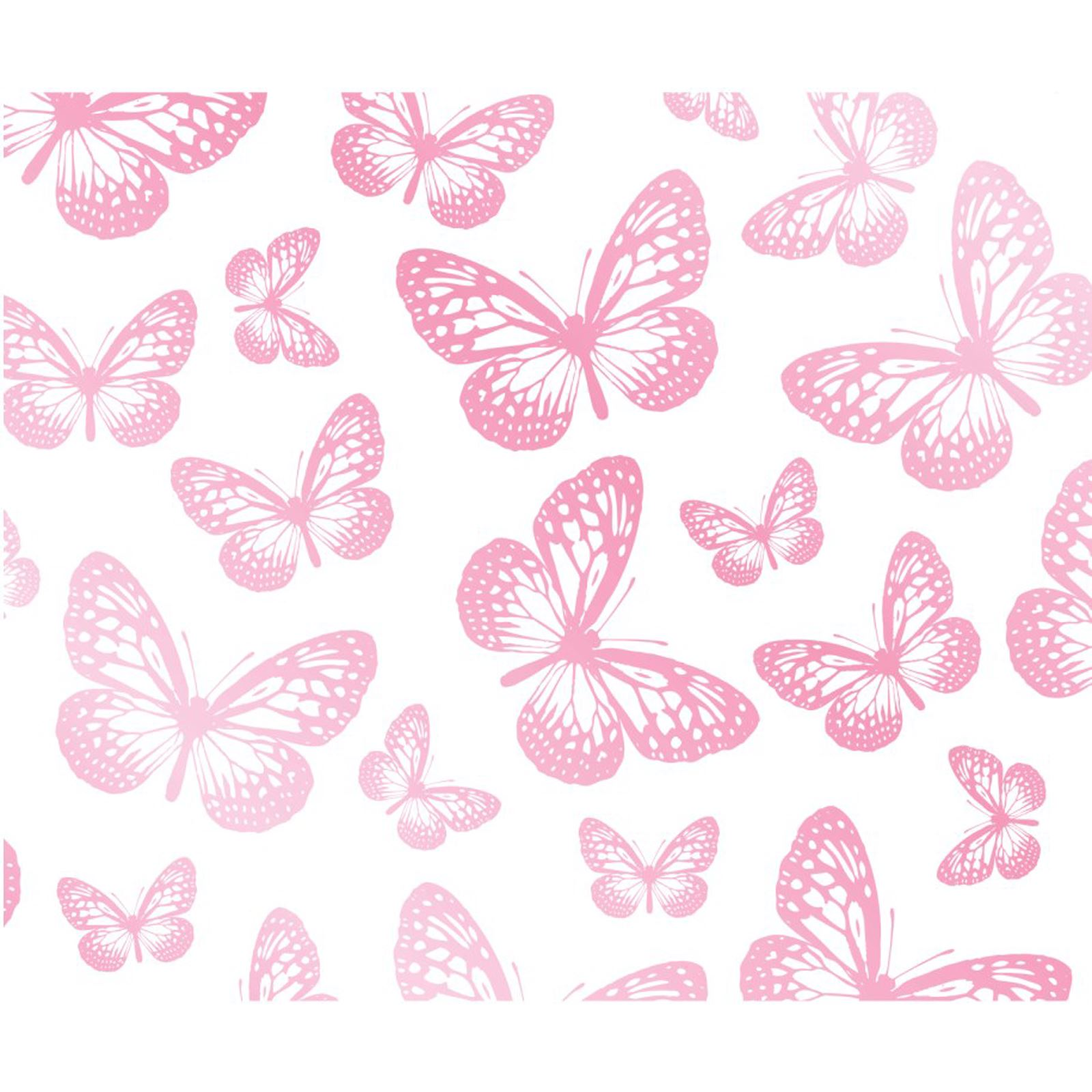 Girls Bedroom Butterfly Wallpaper In Pink White Teal