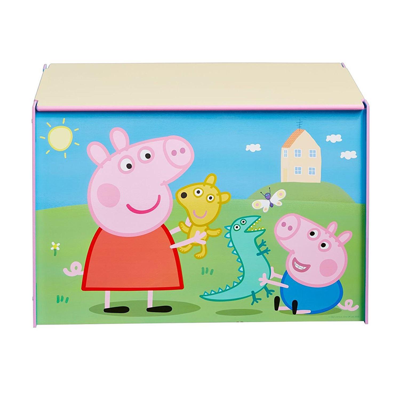peppa pig boite jouet pour enfants jeux stockage meuble ebay. Black Bedroom Furniture Sets. Home Design Ideas