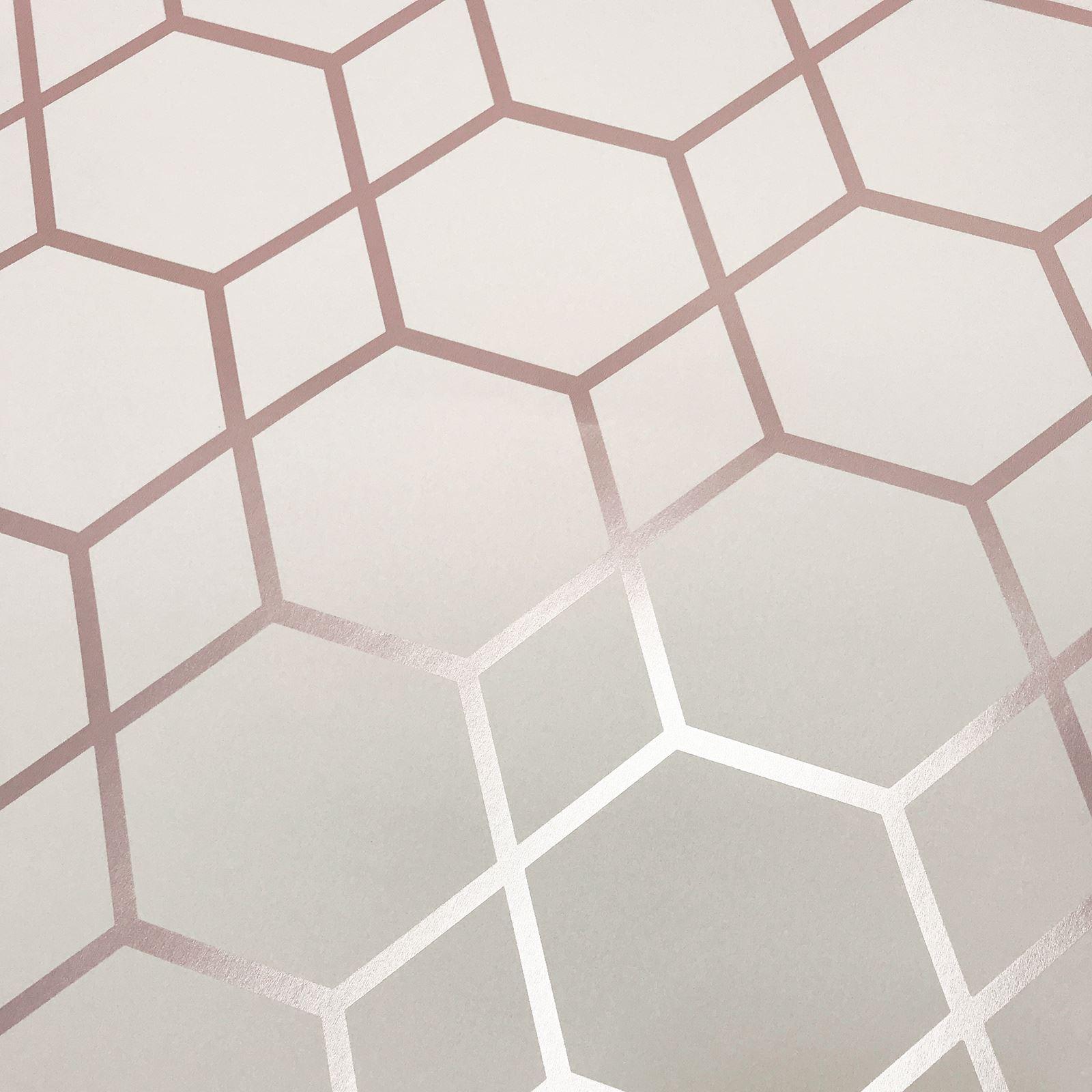 Muriva Casca Pink Wallpaper 152504 Feature Chic Metallic Geometric Triangles