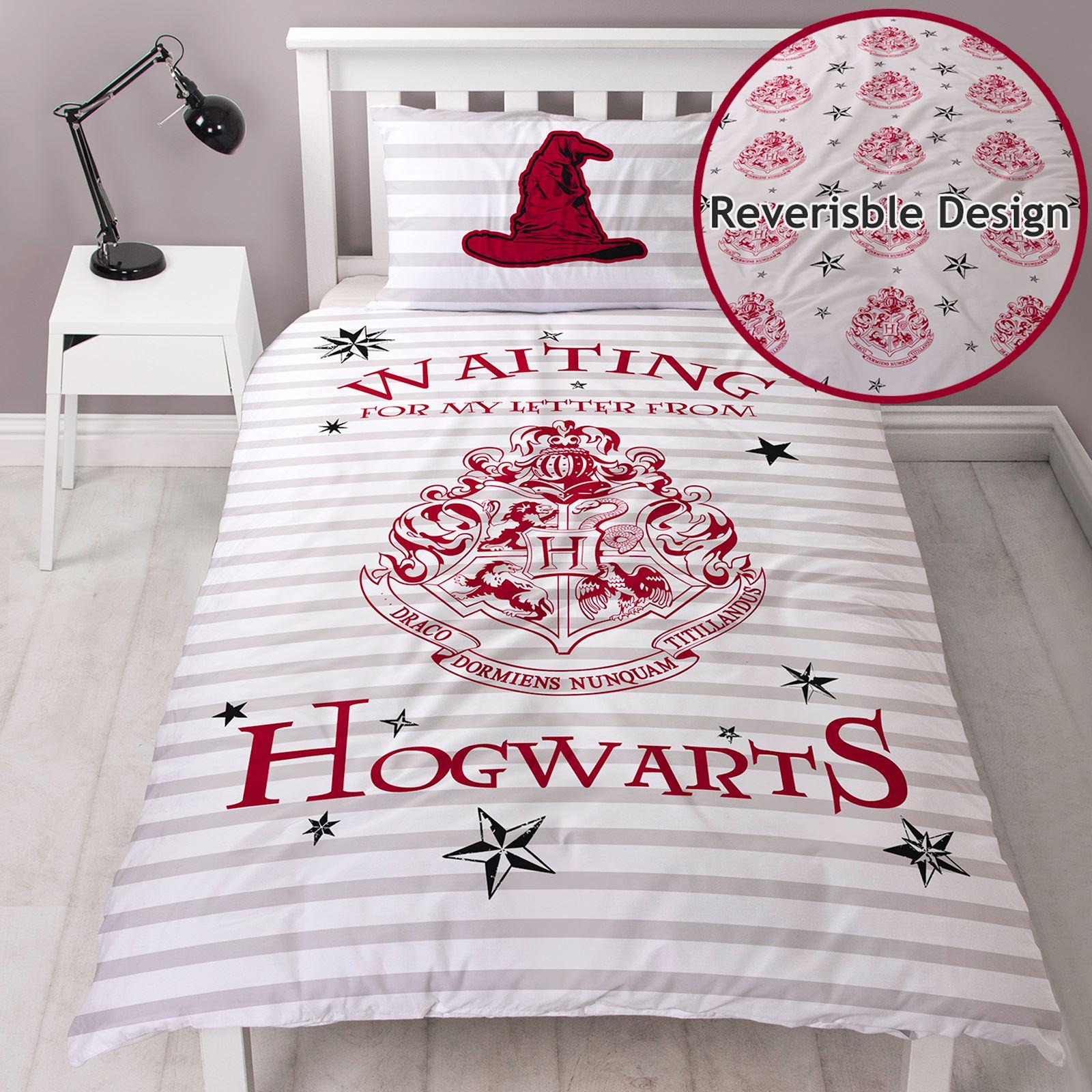 Harry Potter Lettres Simple Parure De Lit Réversible Hogwarts Crest Kids