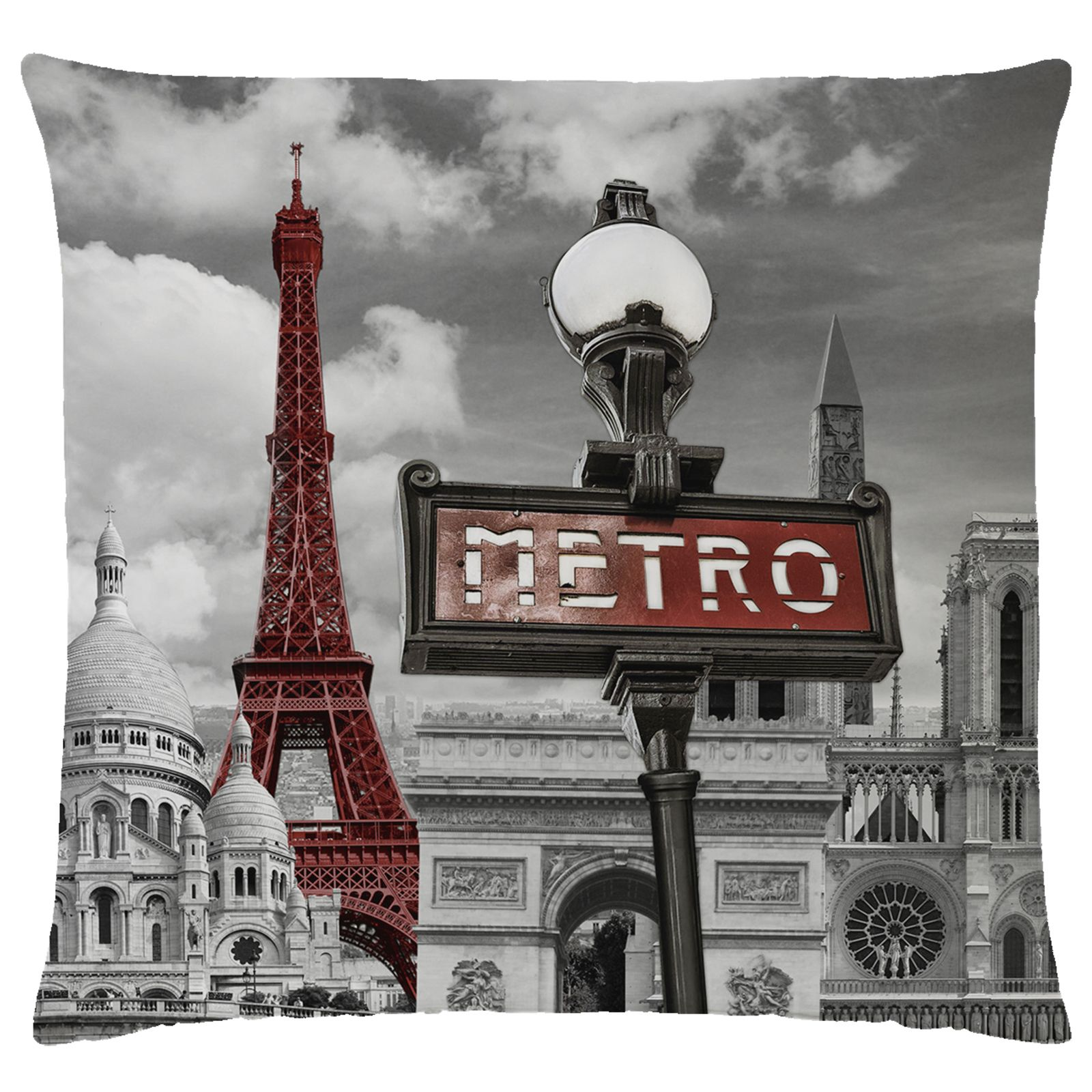 paris french duvet cover set landmarks eiffel tower single double king size ebay. Black Bedroom Furniture Sets. Home Design Ideas
