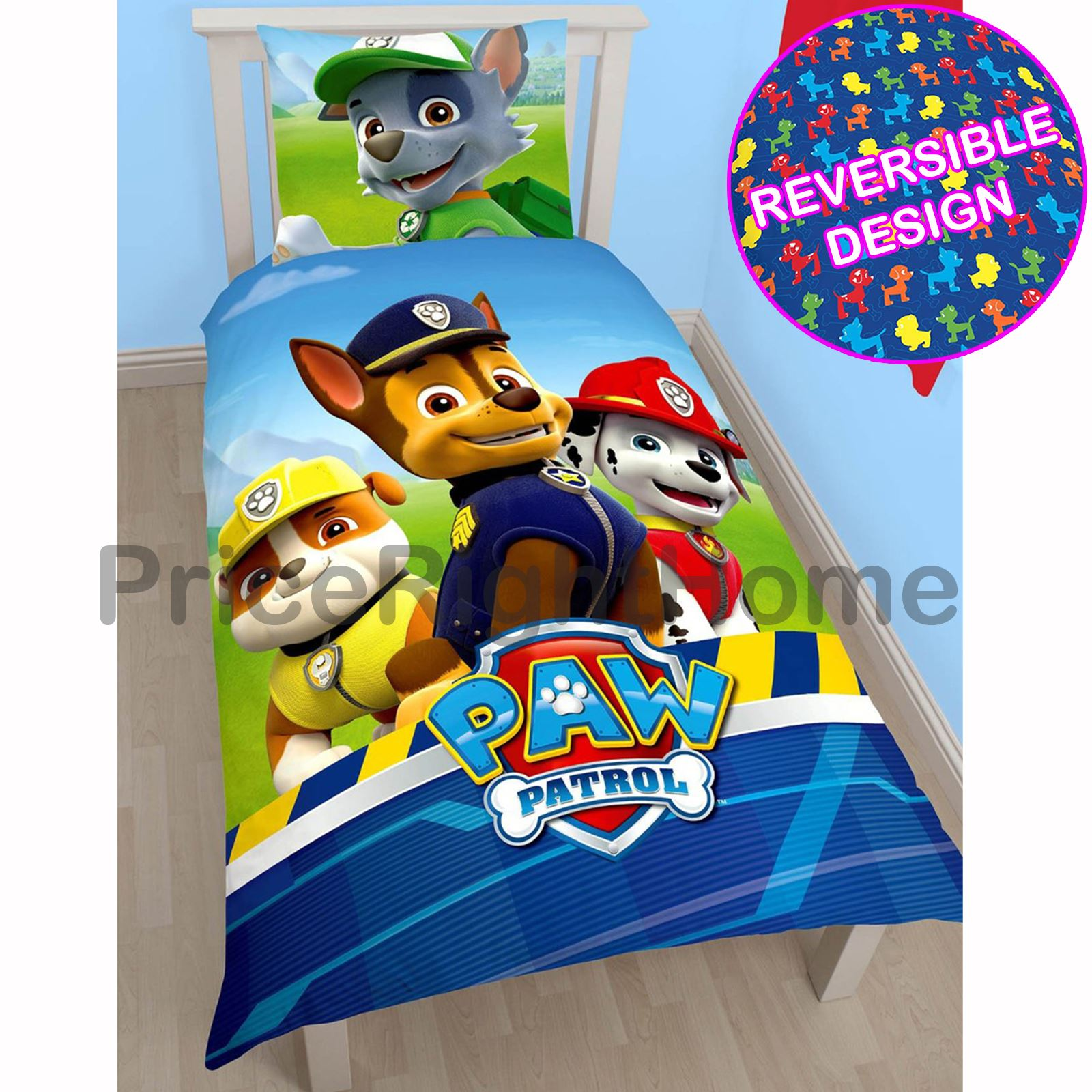 PAW PATROL OFFICIAL DUVET COVER SETS VARIOUS DESIGNS KIDS BEDROOM