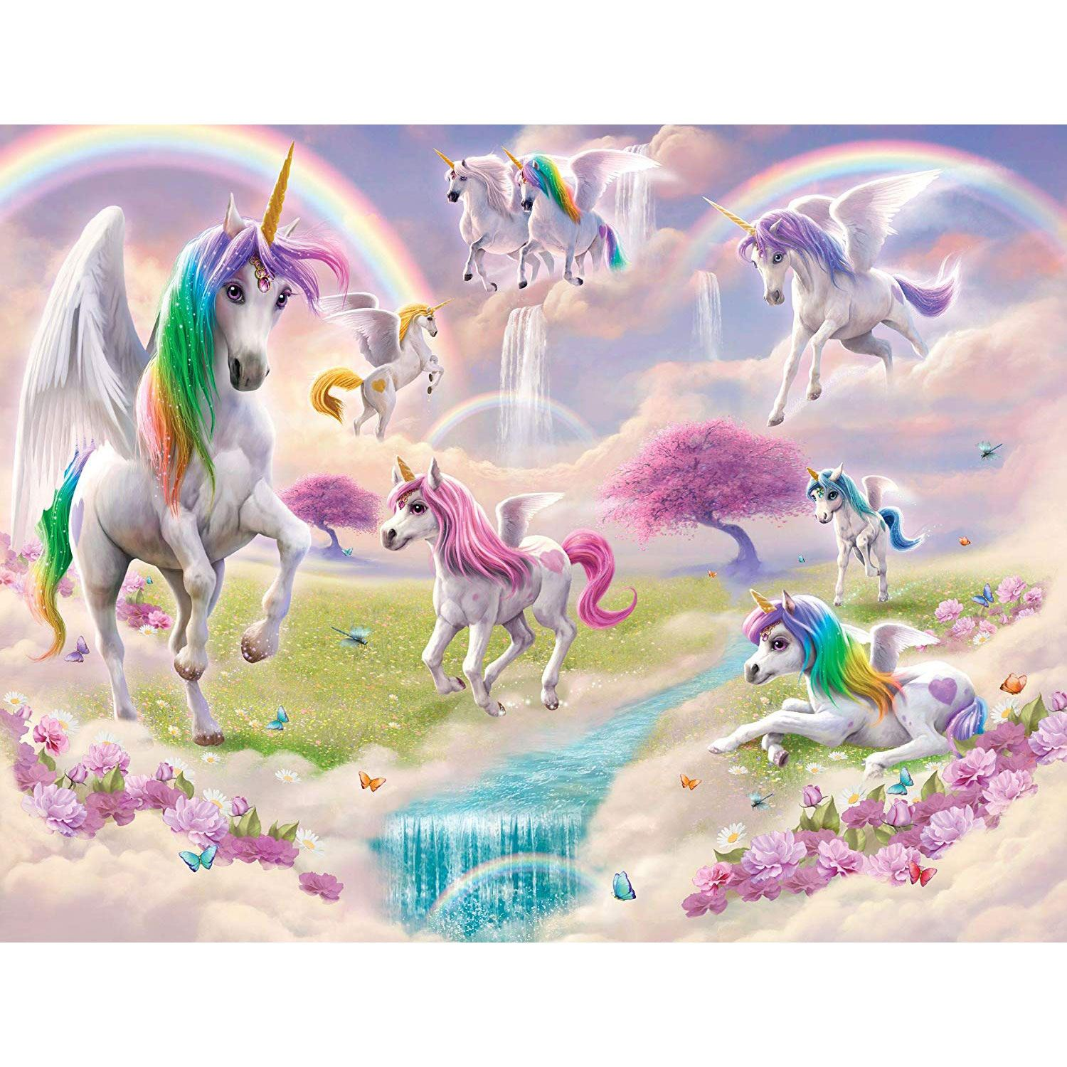 Walltastic Magical Unicorn Wall Mural Kids Room Decor 2