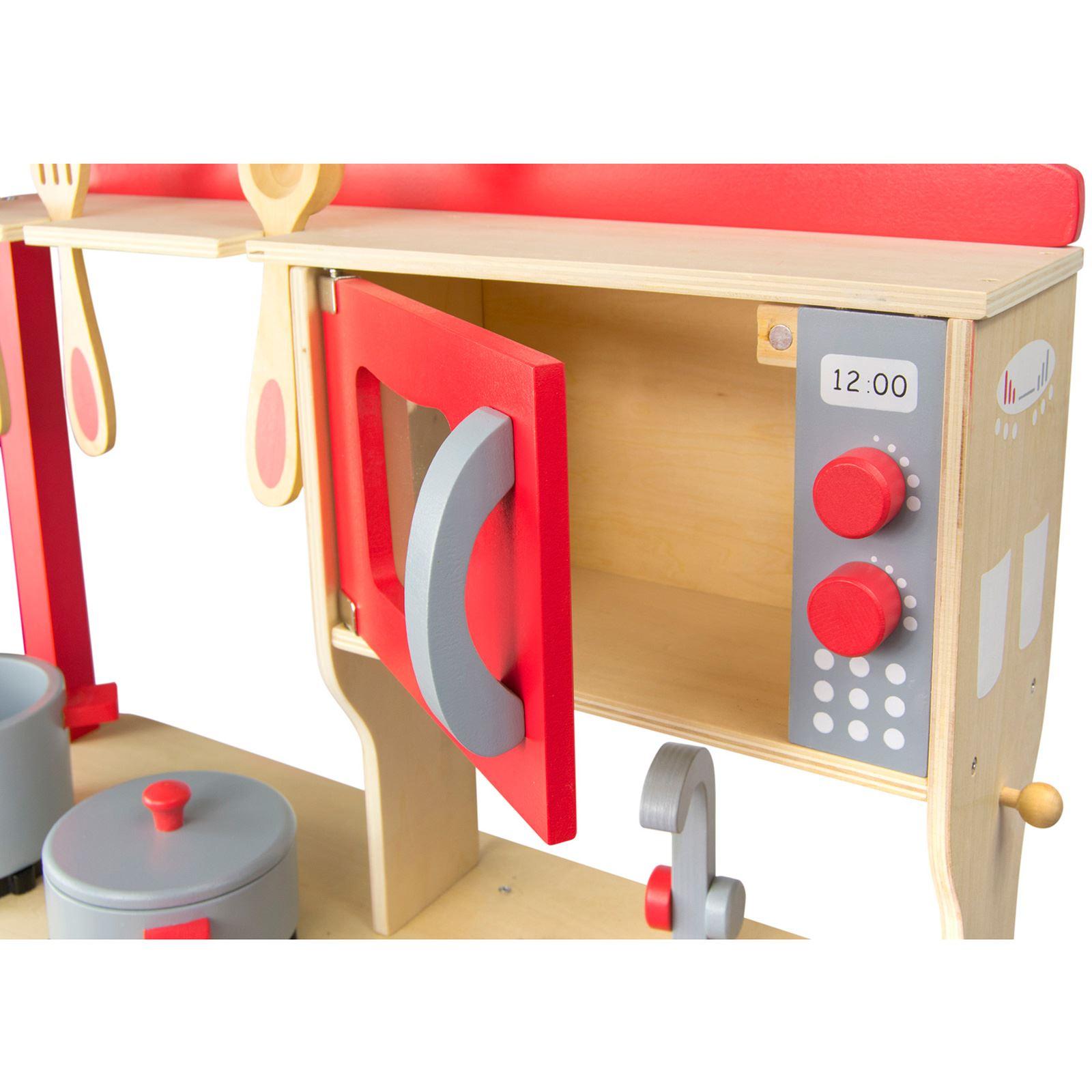 Leomark cucina in legno bambini gioco cucina con accessori for Cucina legno bambini amazon