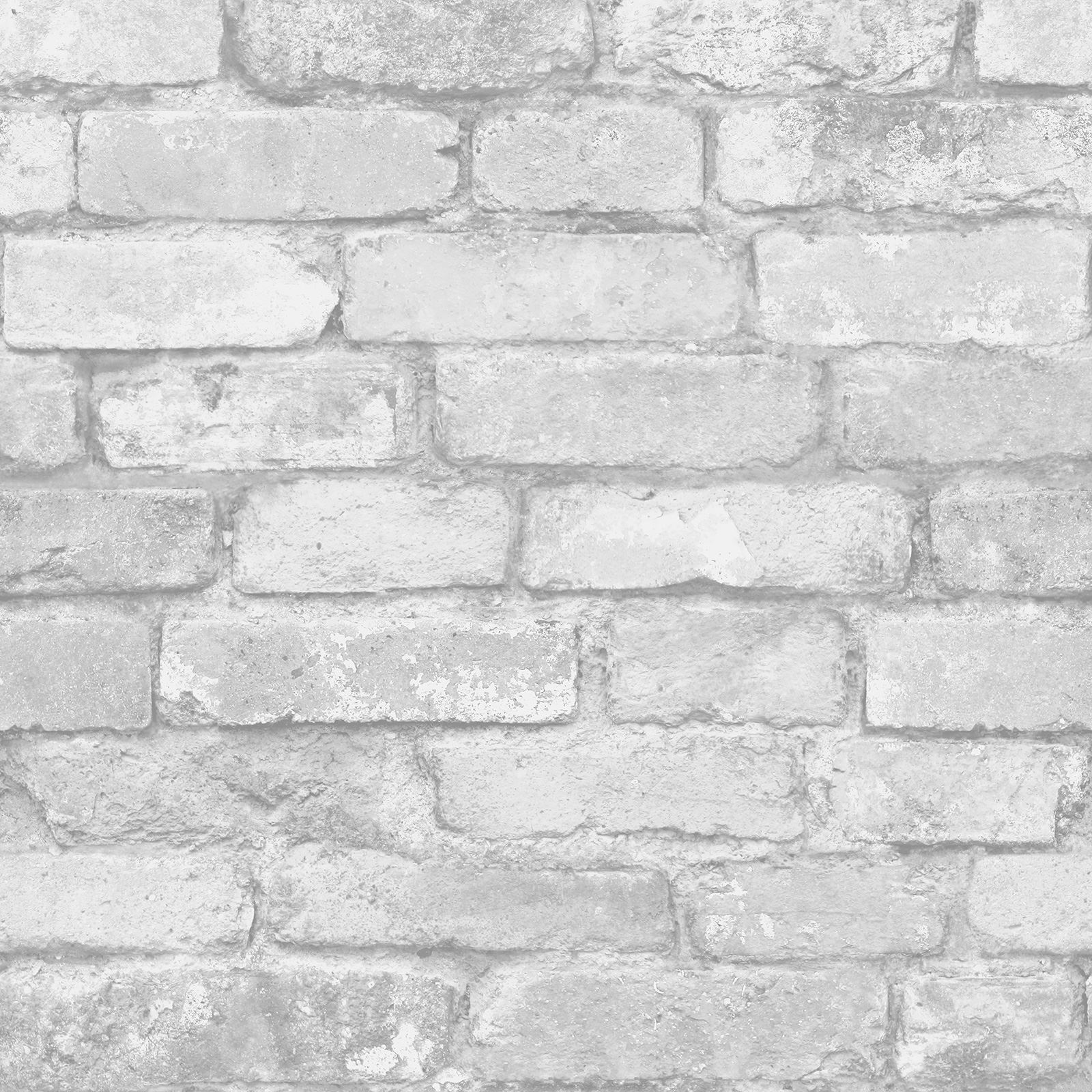 WHITE BRIcK EFFEcT WALLPAPER - 5 STYLES - FEATURE WALL - NEW eBay