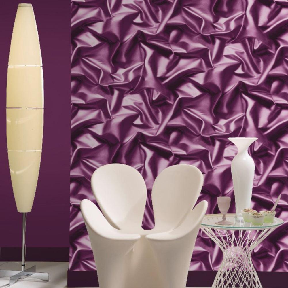 purple wallpaper feature wall