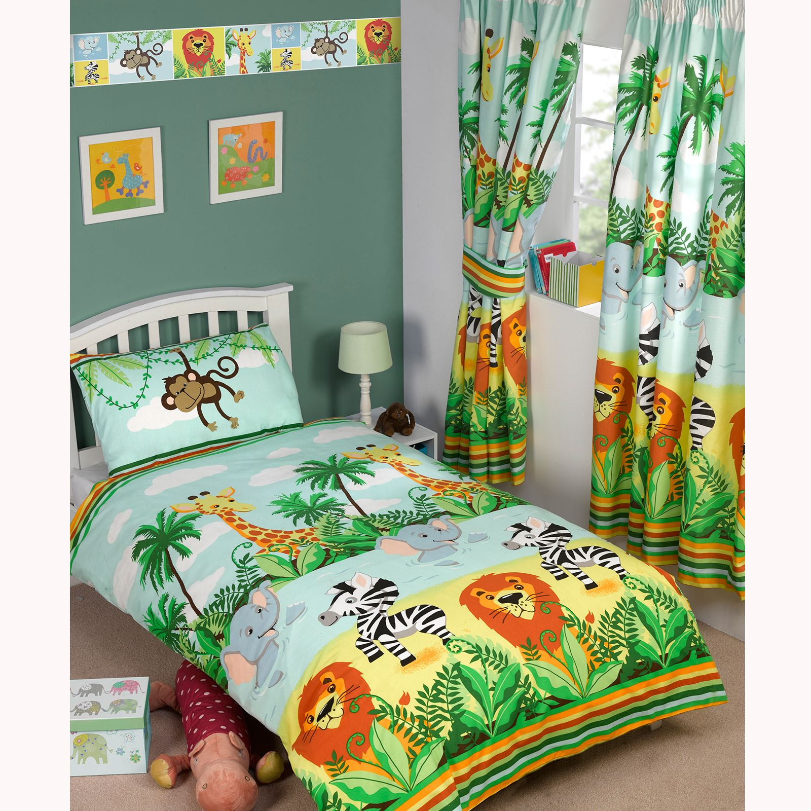 Kids Wallpaper Borders Dinosaurs Army Jungle Tastic Pricerighthome Exclusive New Ebay